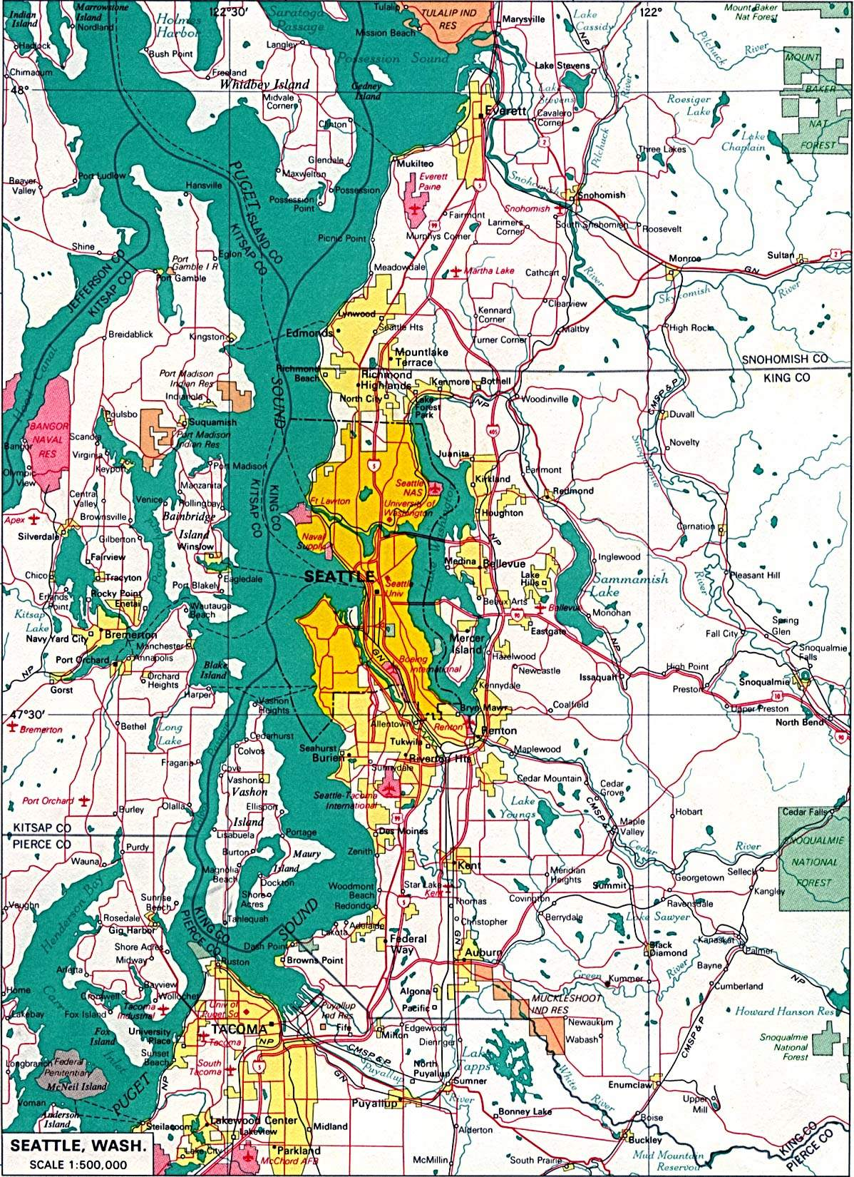 Large Seattle Maps for Free Download and Print HighResolution