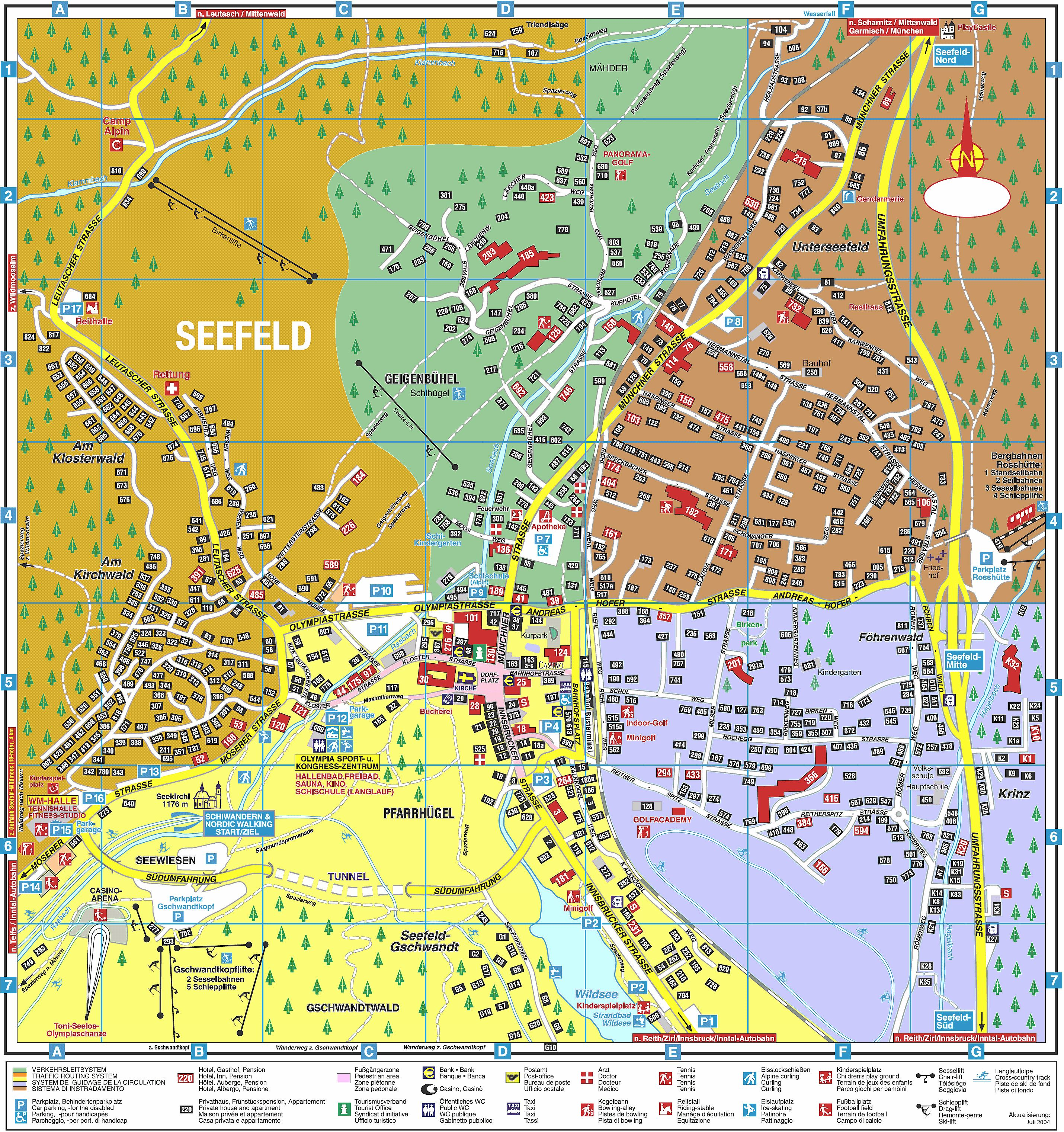 Tirol Italy Map.Large Seefeld In Tirol Maps For Free Download And Print High