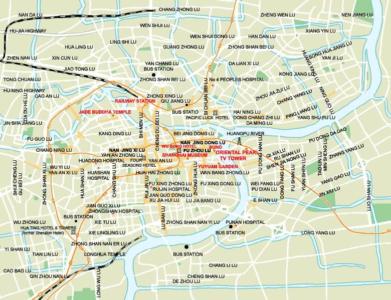Large Shanghai Maps For Free Download And Print High Resolution