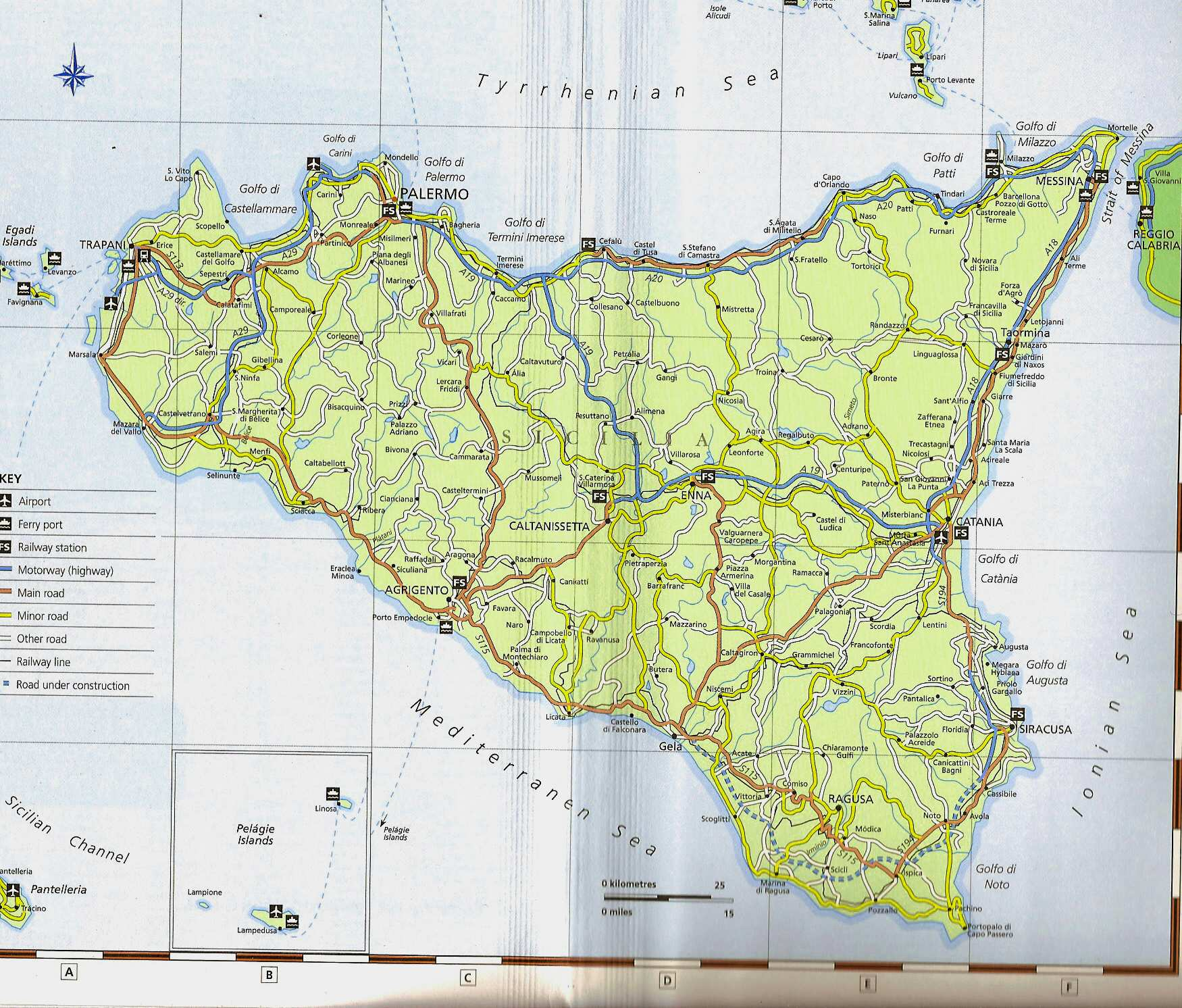Large Sicily Maps for Free Download and Print HighResolution and
