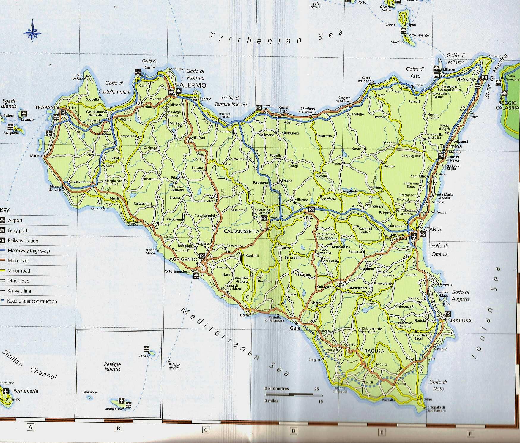 karte von sizilien Stadtplan von Sizilien | Detaillierte gedruckte Karten von  karte von sizilien