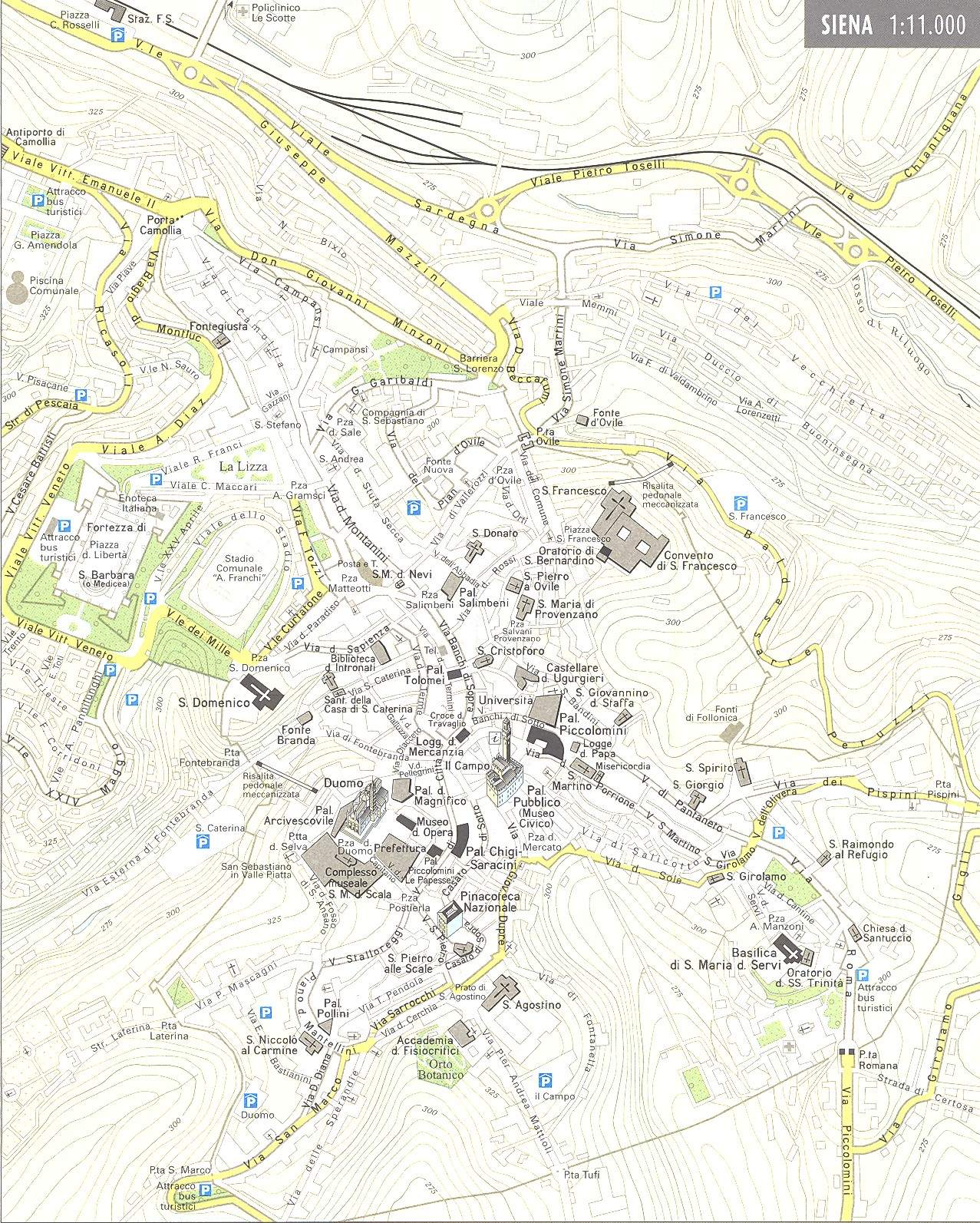 Large Siena Maps For Free Download And Print HighResolution And - Map od