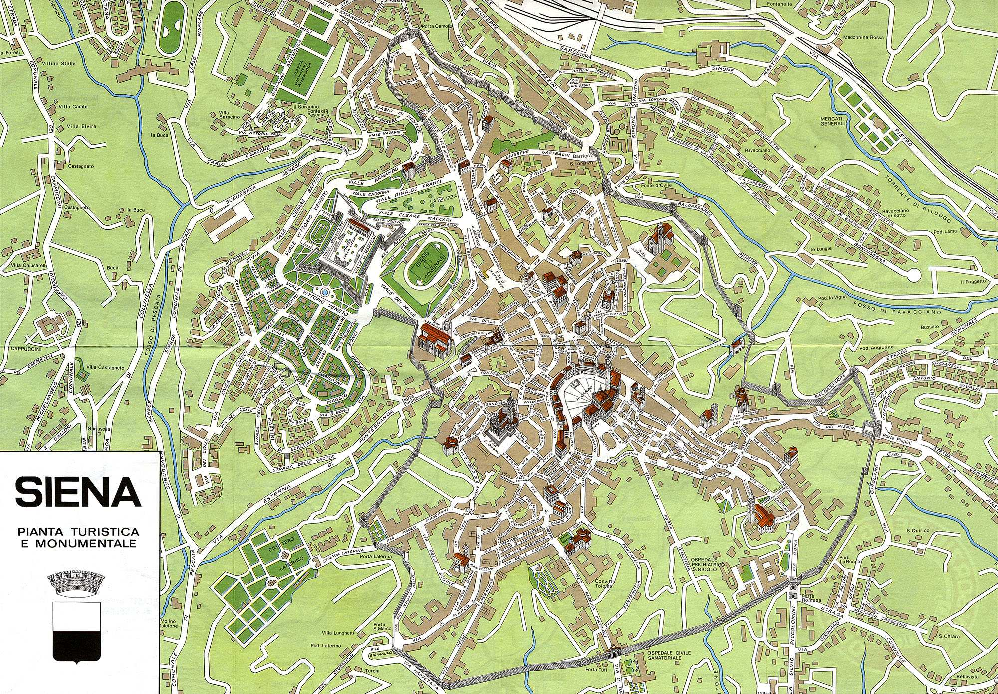 Large Siena Maps for Free Download and Print HighResolution and