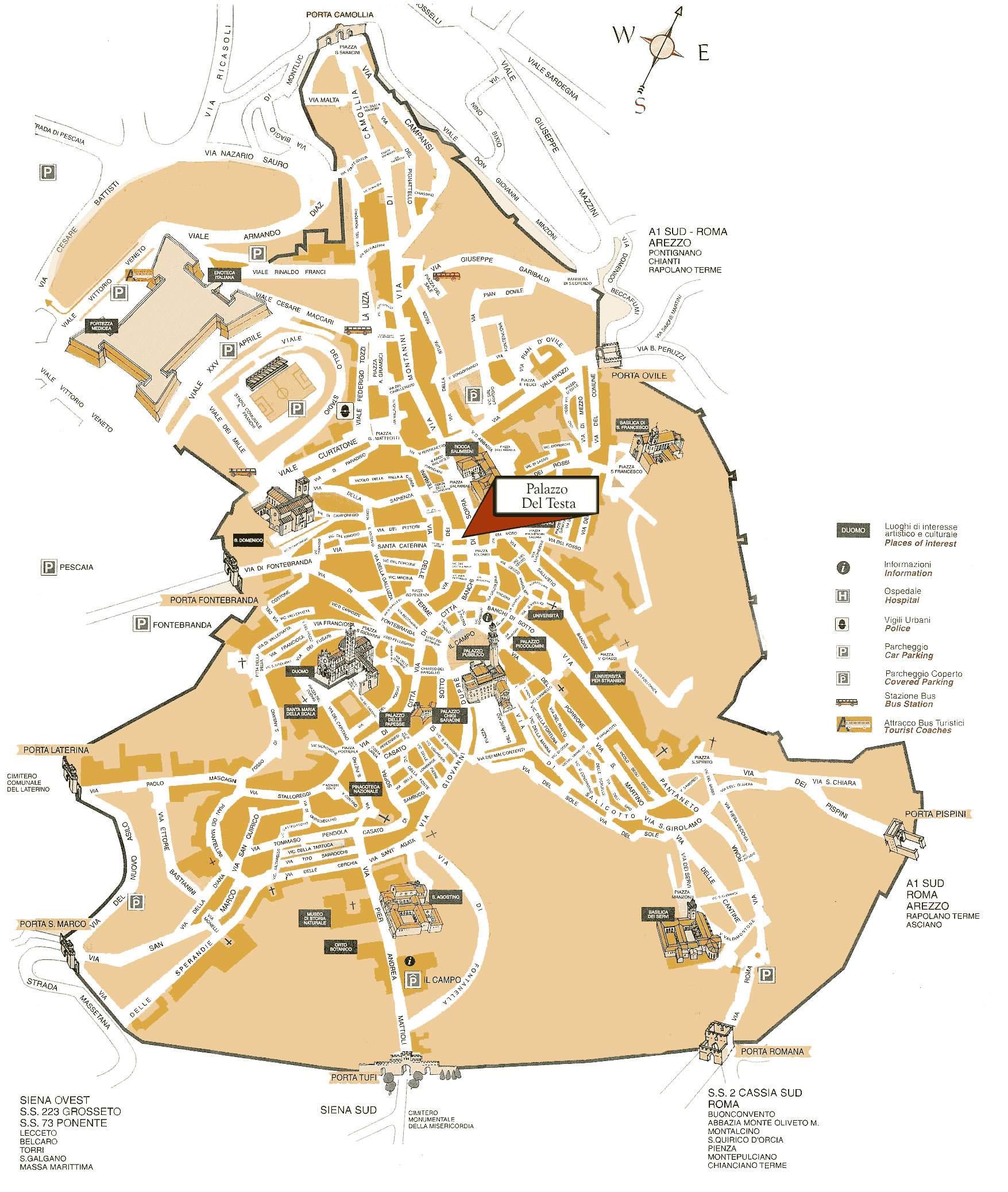 siena italien karte Stadtplan von Siena | Detaillierte gedruckte Karten von Siena  siena italien karte