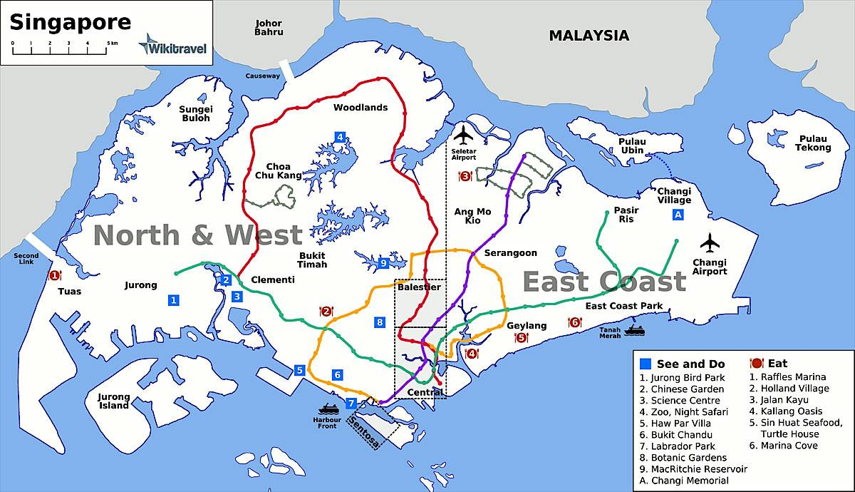 Large Singapore Maps for Free Download – Tourist Map Of Singapore City