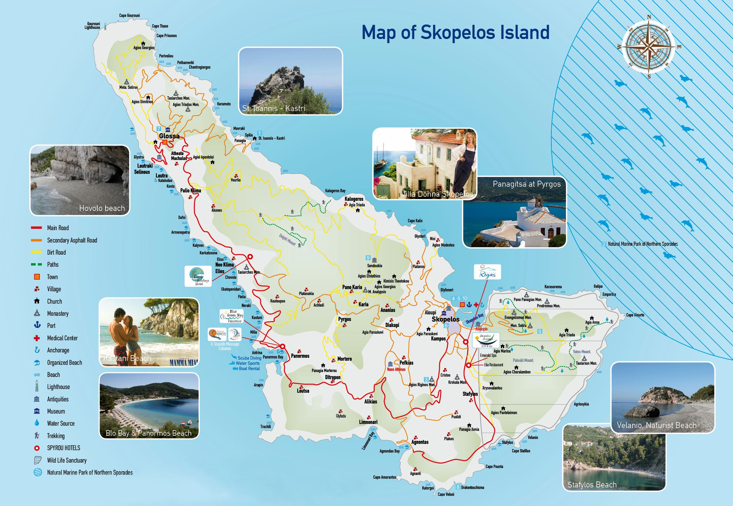 Map Of Skopelos Island Large Skopelos Island Maps for Free Download and Print | High