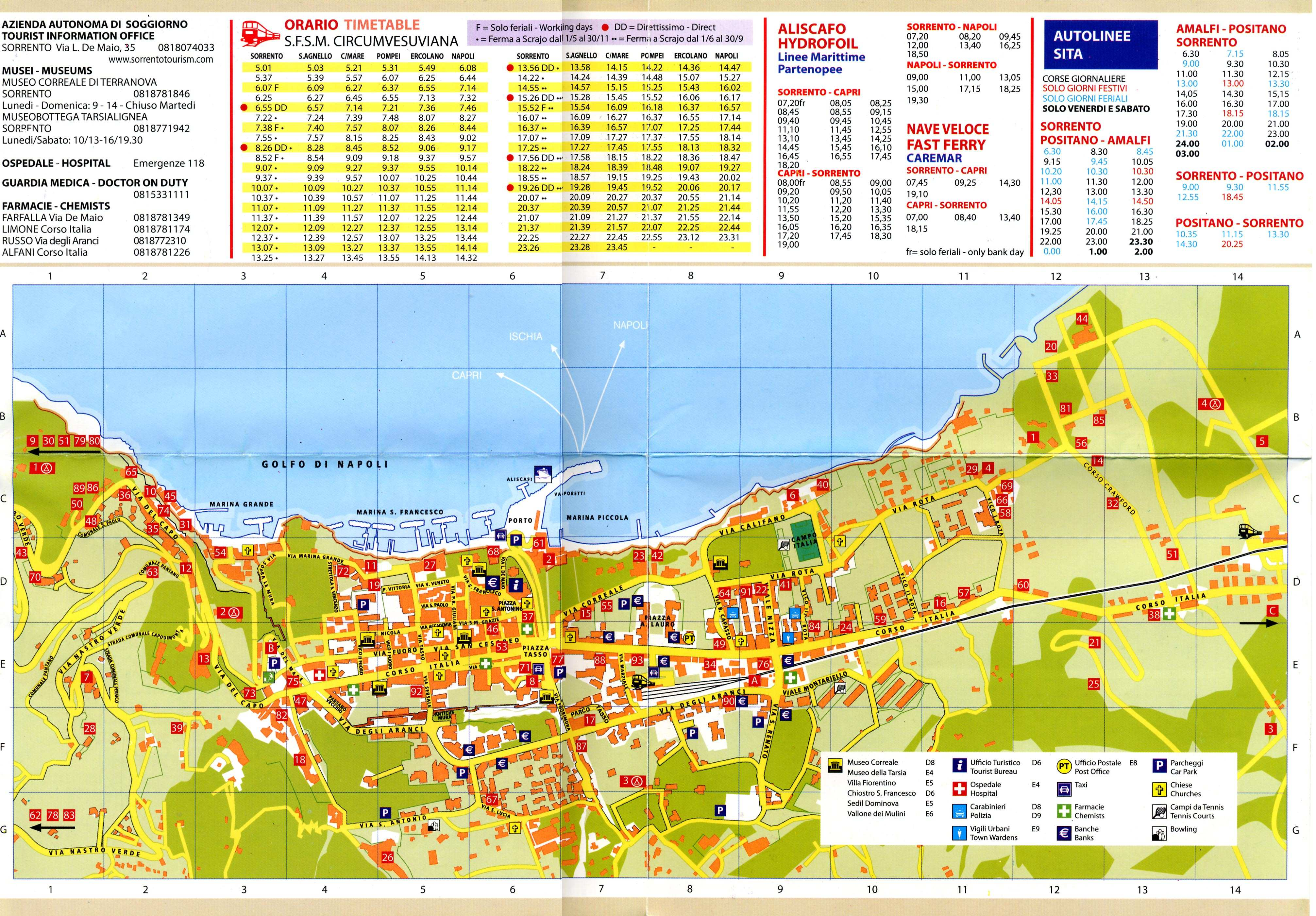 Map Of Sorrento Large Sorrento Maps for Free Download and Print | High Resolution
