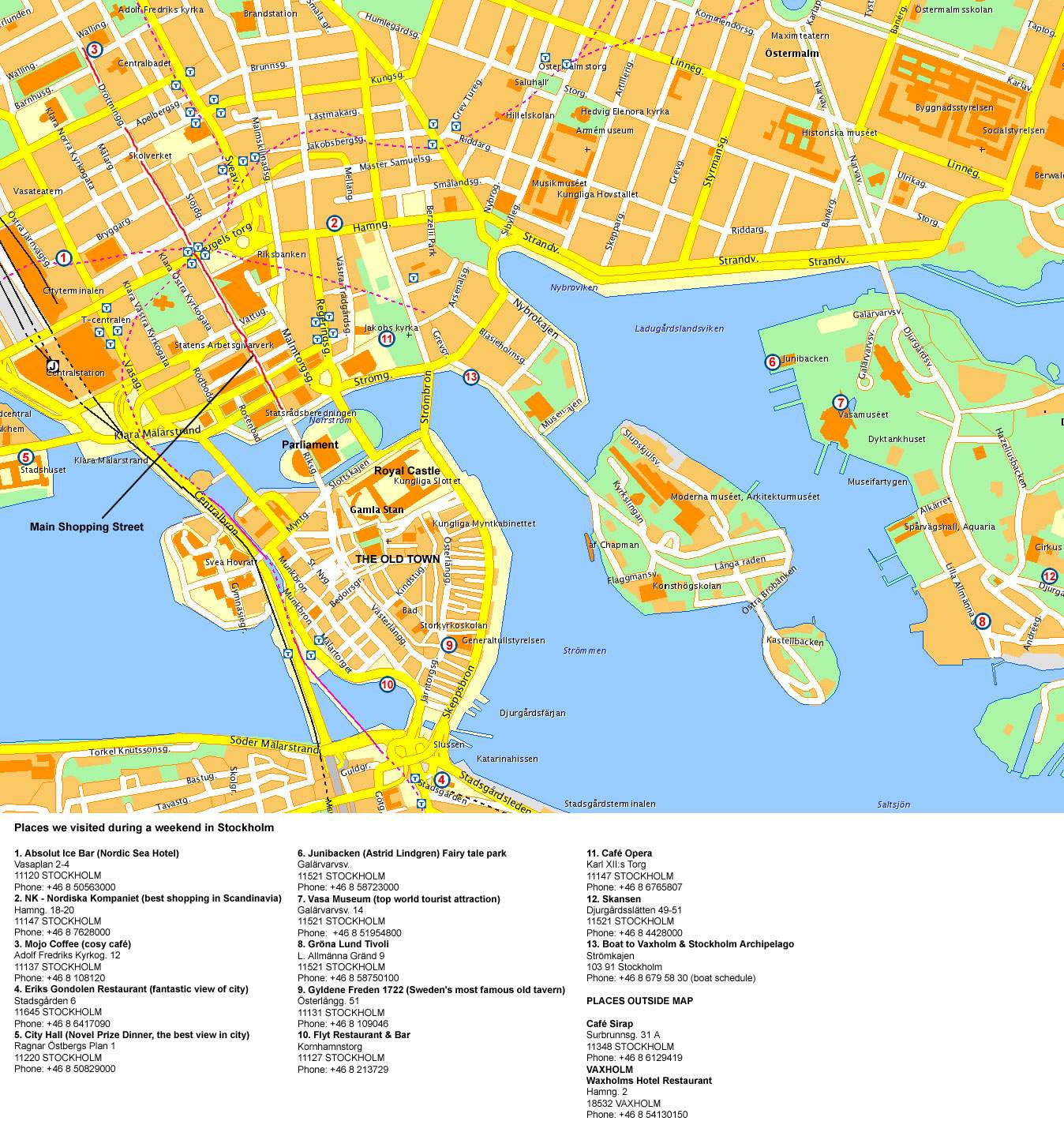 Largeholm Maps for Free Download – Stockholm Tourist Map