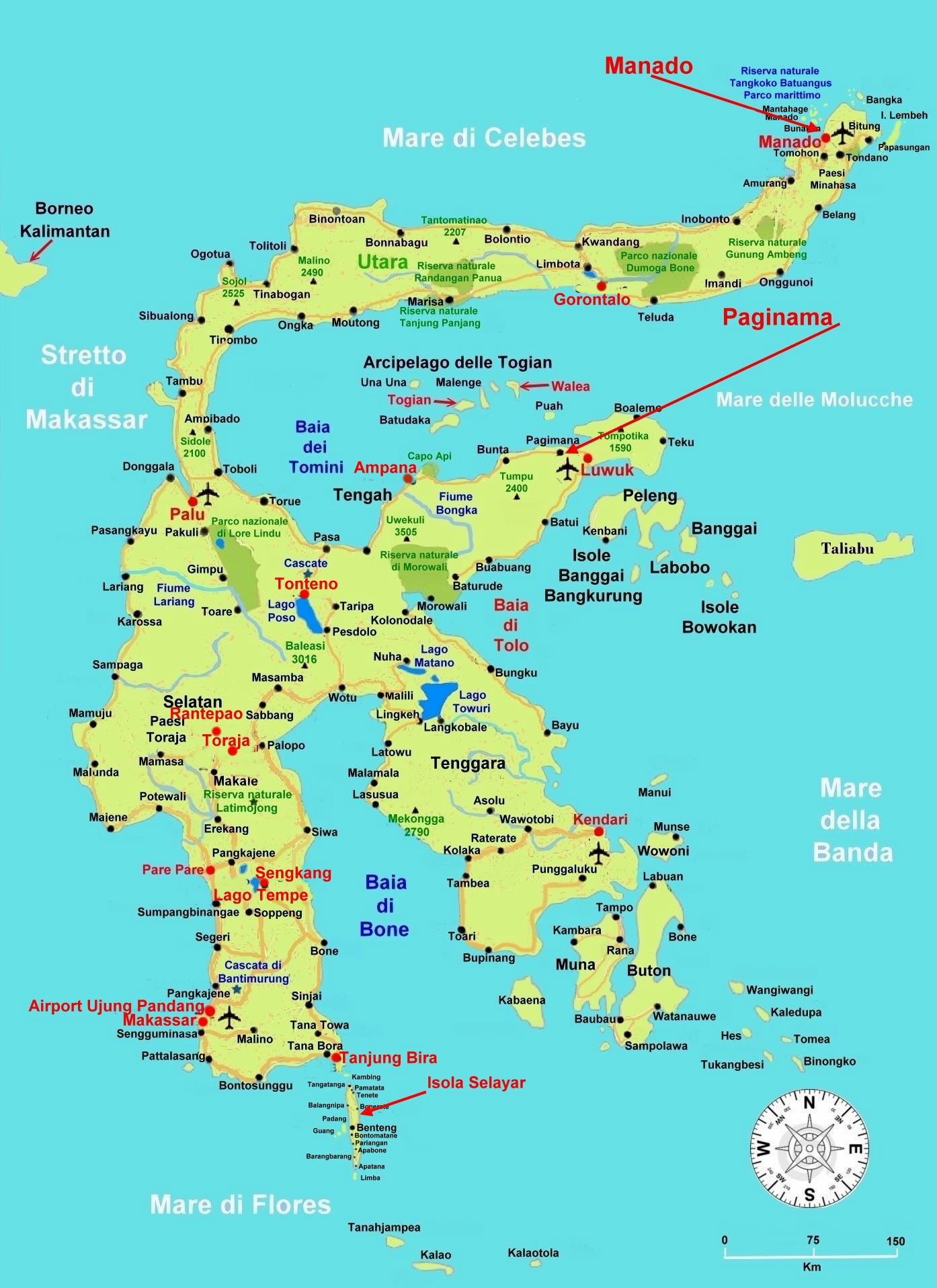 Carte Bali Palu.Large Sulawesi Island Maps For Free Download And Print High