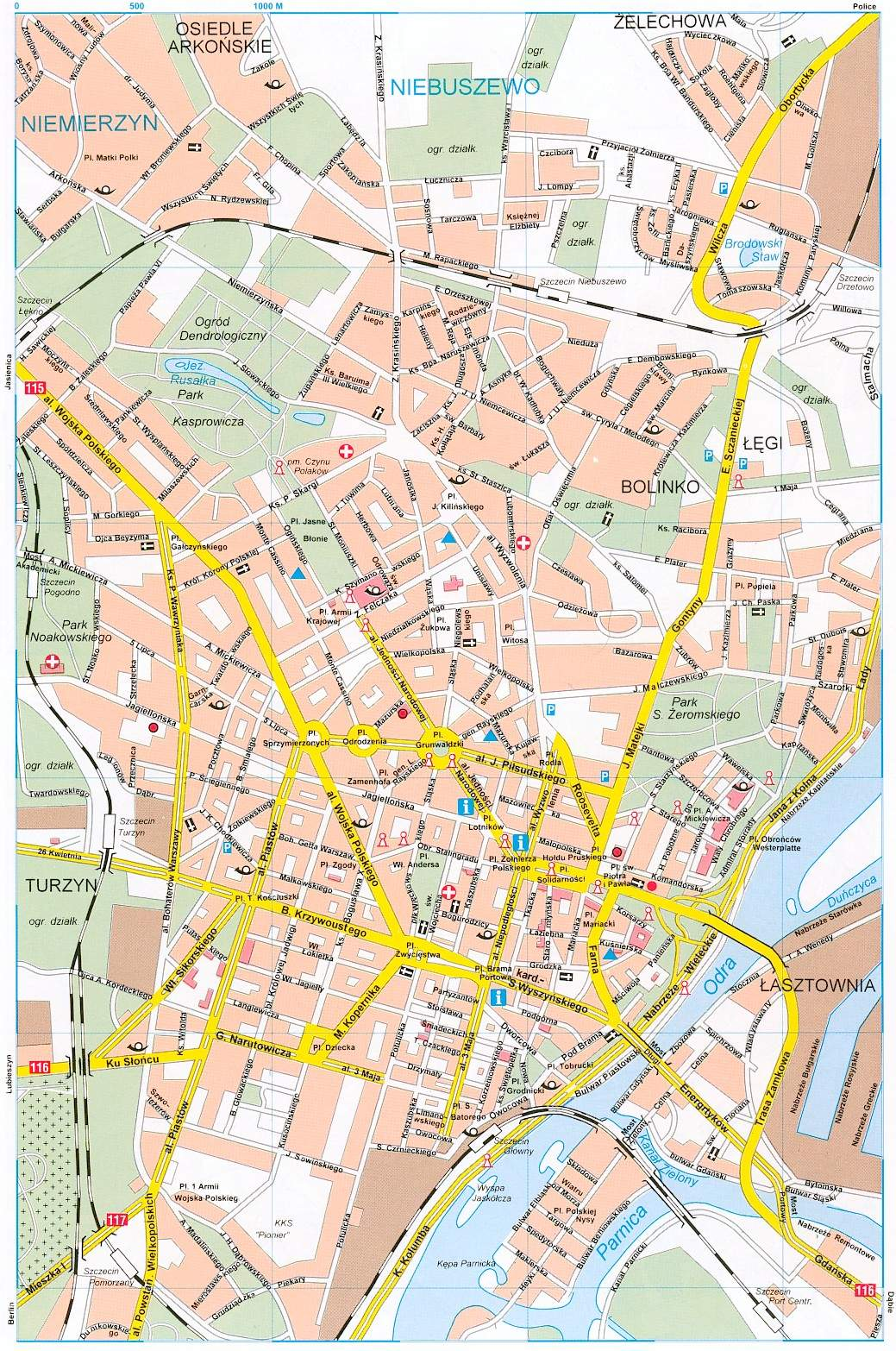 Large Szczecin Maps For Free Download And Print High Resolution