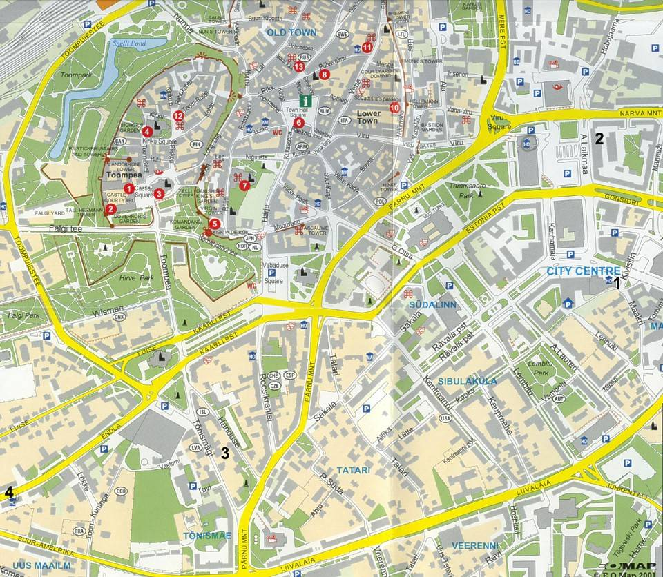 Large Tallinn Maps for Free Download and Print HighResolution and