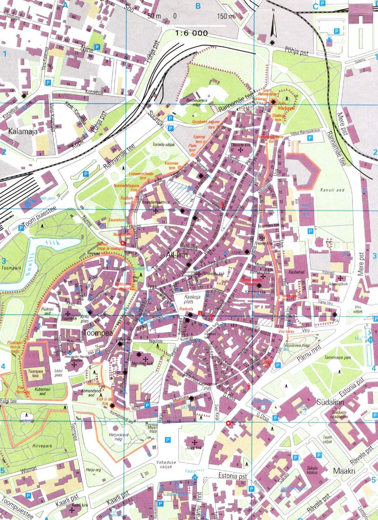 Large Tallinn Maps For Free Download And Print HighResolution - Tallinn map