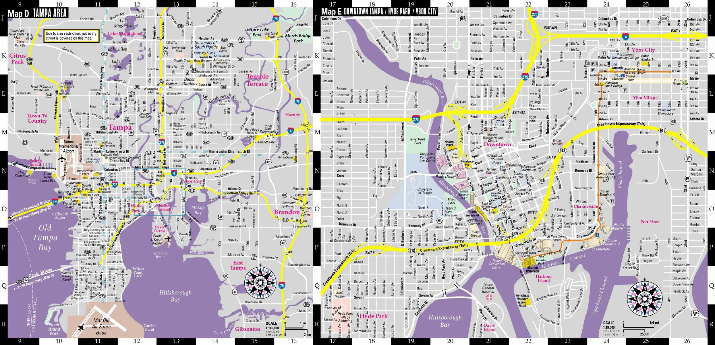 Large Tampa Maps for Free Download and Print HighResolution and