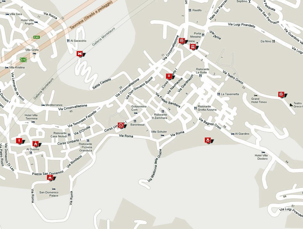 Large Taormina Maps For Free Download And Print High Resolution