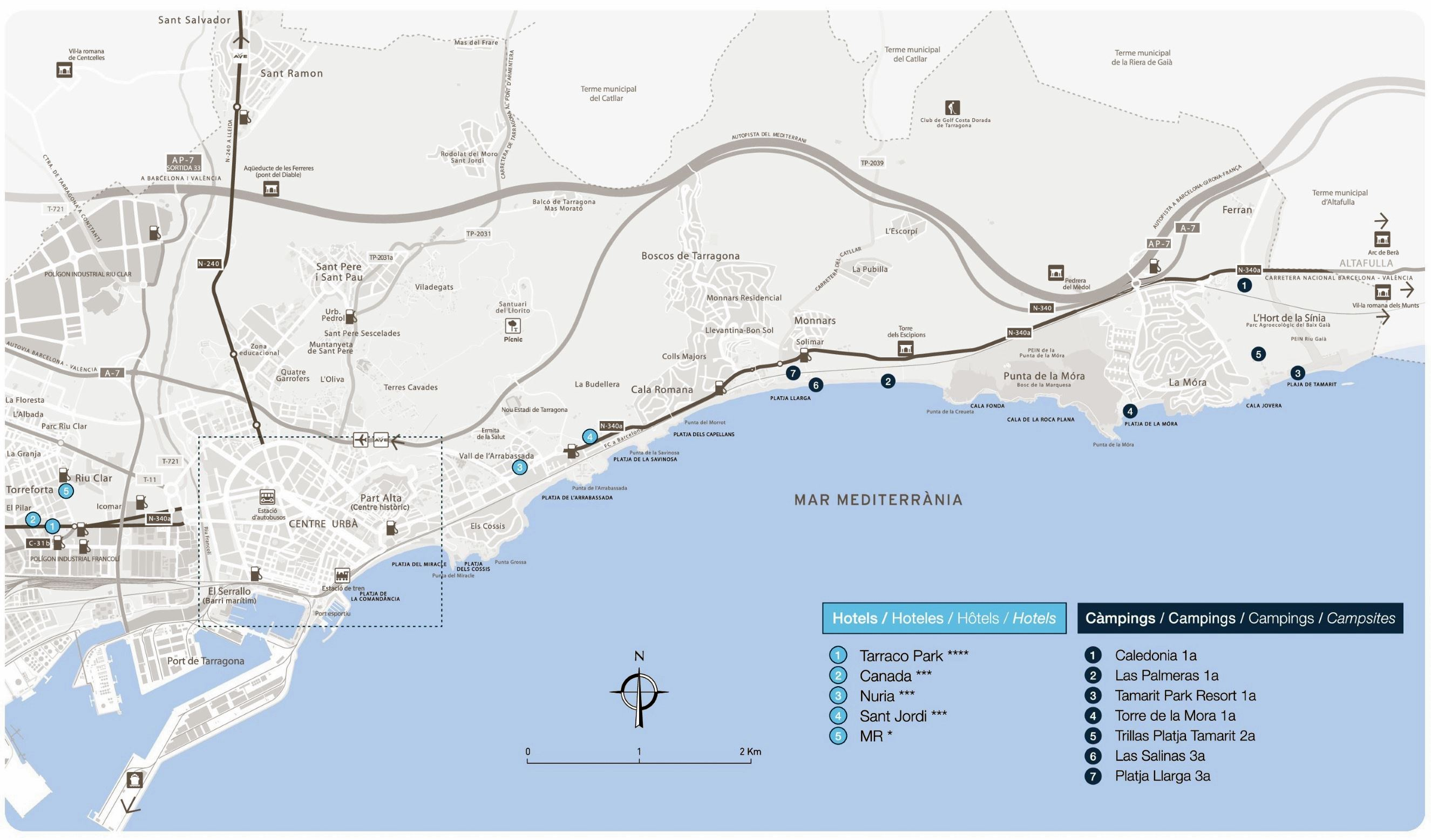 Large Tarragona Maps for Free Download and Print | High-Resolution ...