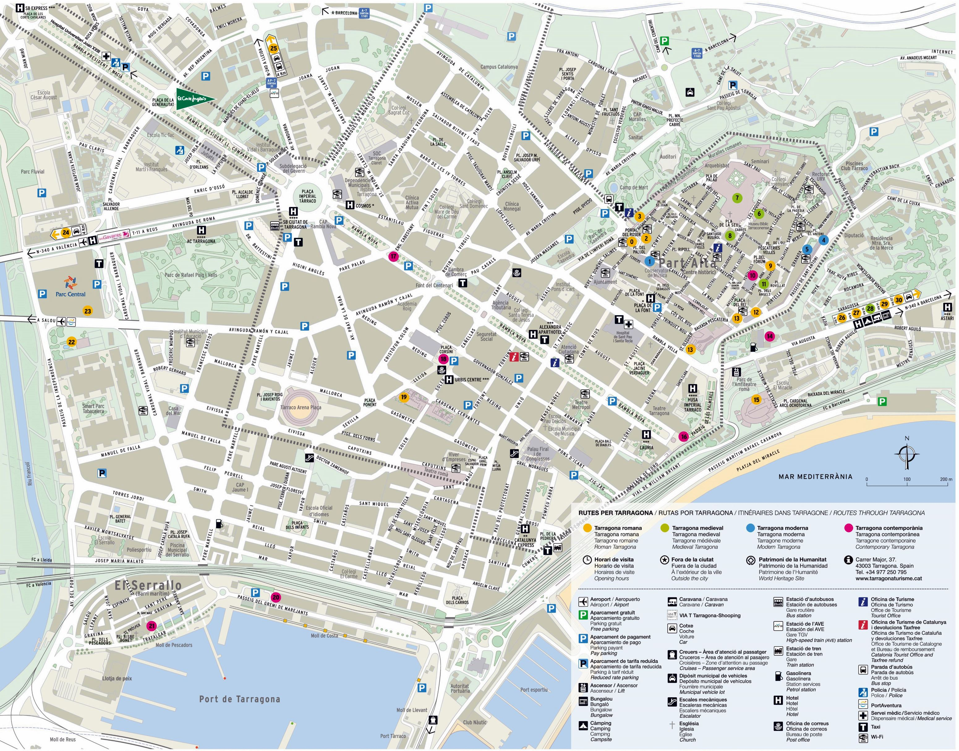 tarragona mapa Large Tarragona Maps for Free Download and Print | High Resolution  tarragona mapa