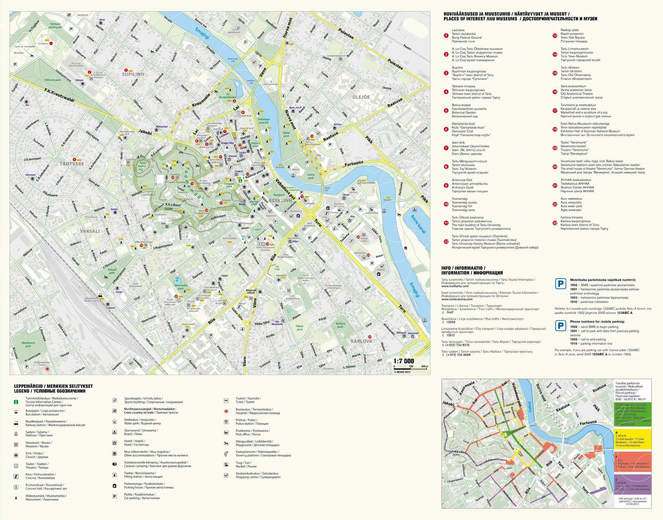 Large Tartu Maps for Free Download and Print HighResolution and