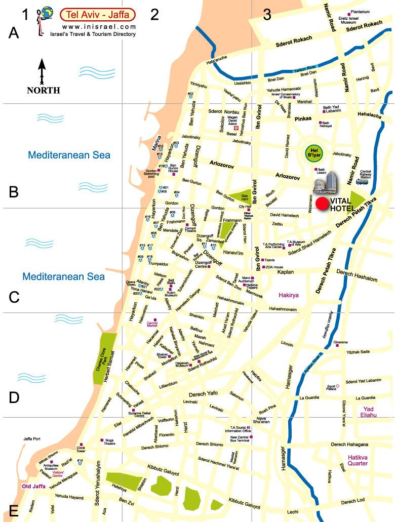 Large Tel Aviv Maps for Free Download and Print HighResolution