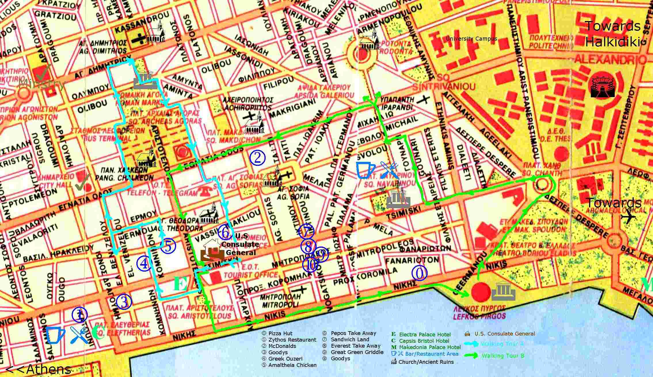 salonica mapa Large Thessaloniki Maps for Free Download and Print | High  salonica mapa