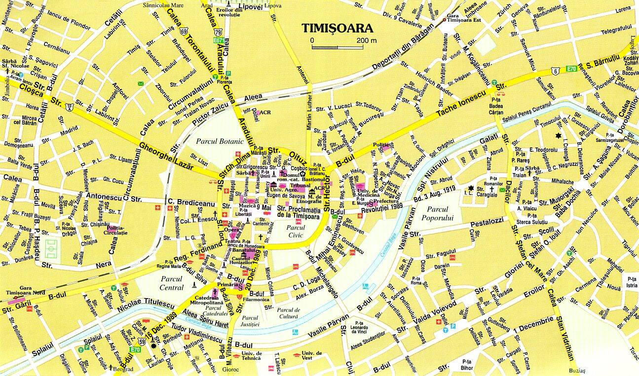 Large Timisoara Maps For Free Download And Print High Resolution