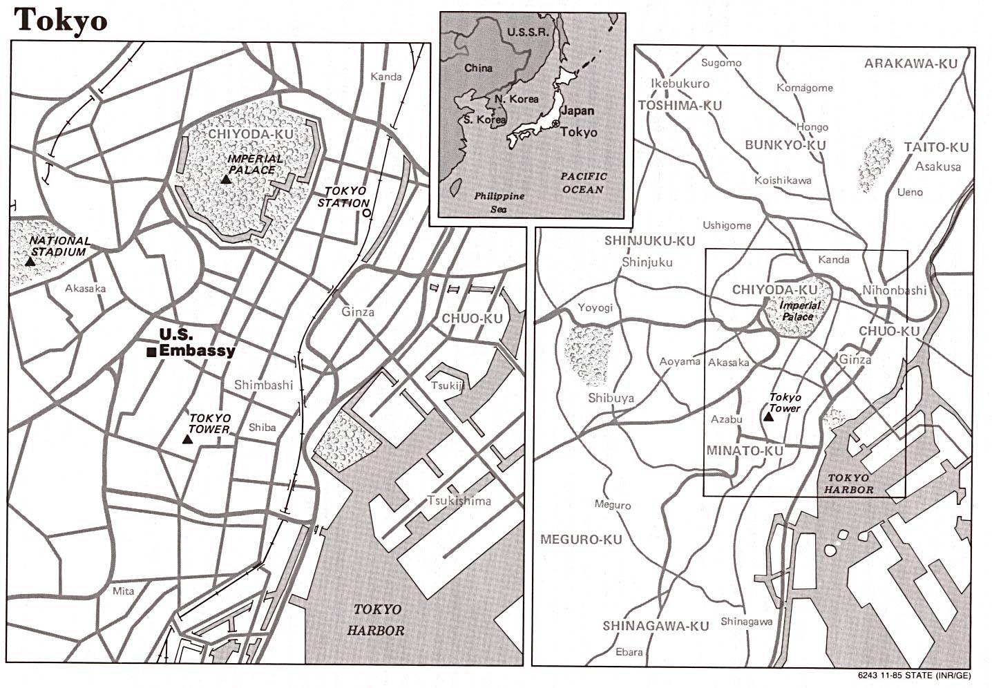 Tokyo Tourist Attractions Map