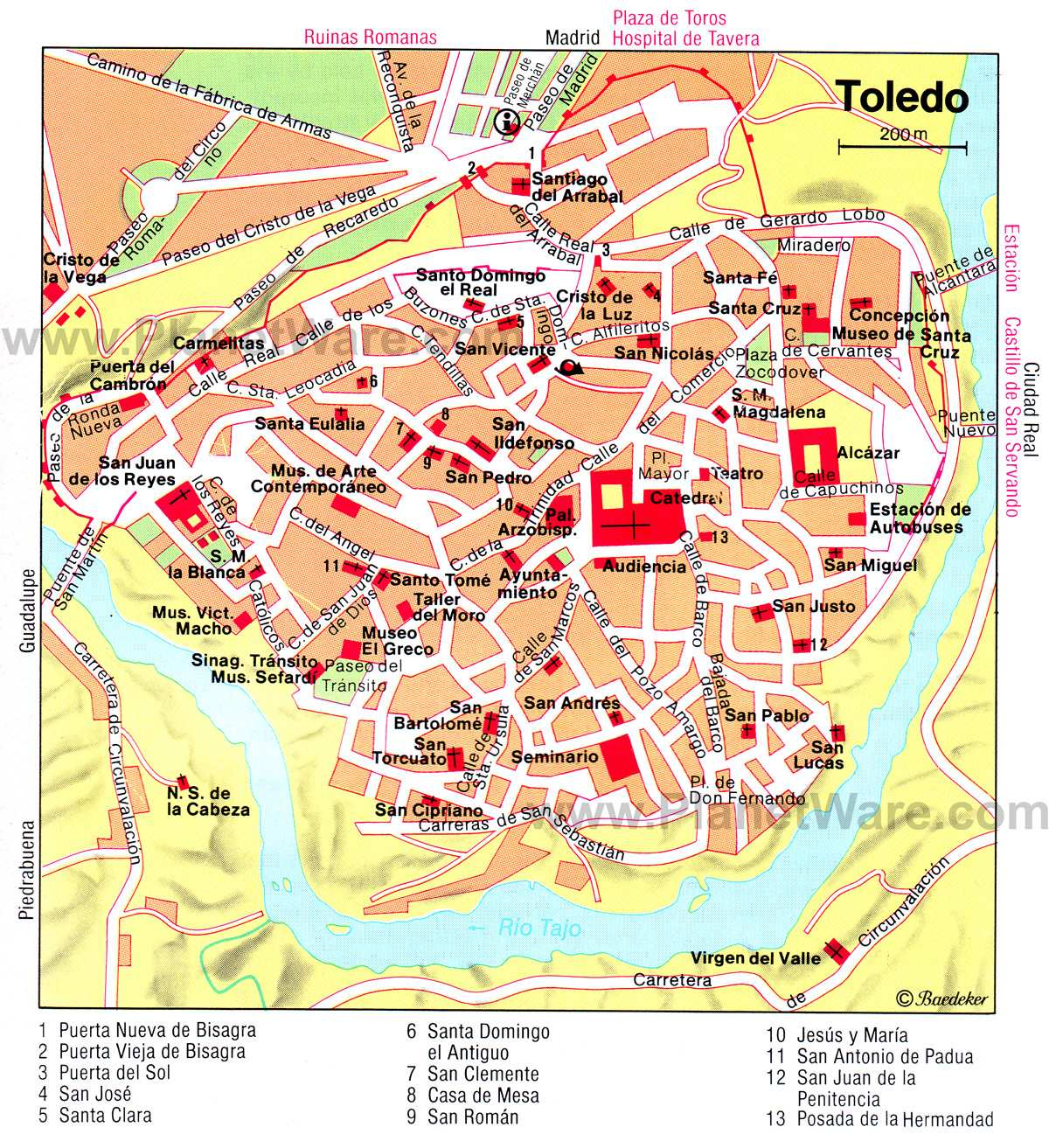 Large Map Of Toledo 1