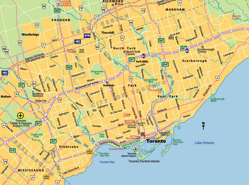 Maps Of Toronto Large Toronto Maps for Free Download and Print | High Resolution  Maps Of Toronto
