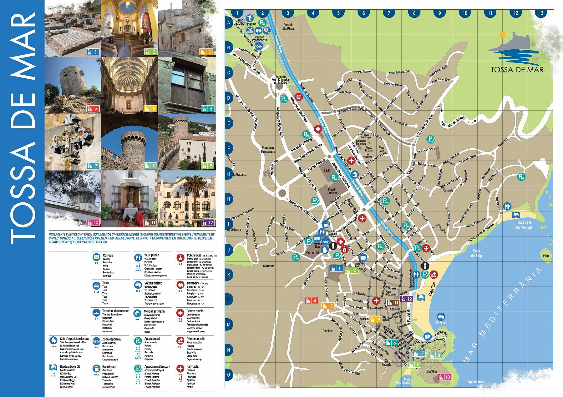 Large Tossa de Mar Maps for Free Download and Print High