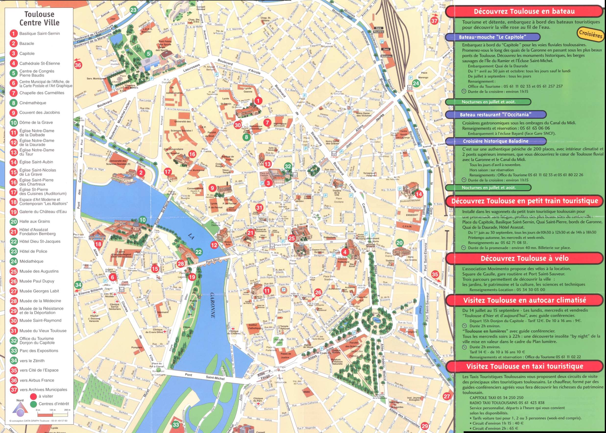 Large Toulouse Maps for Free Download and Print HighResolution