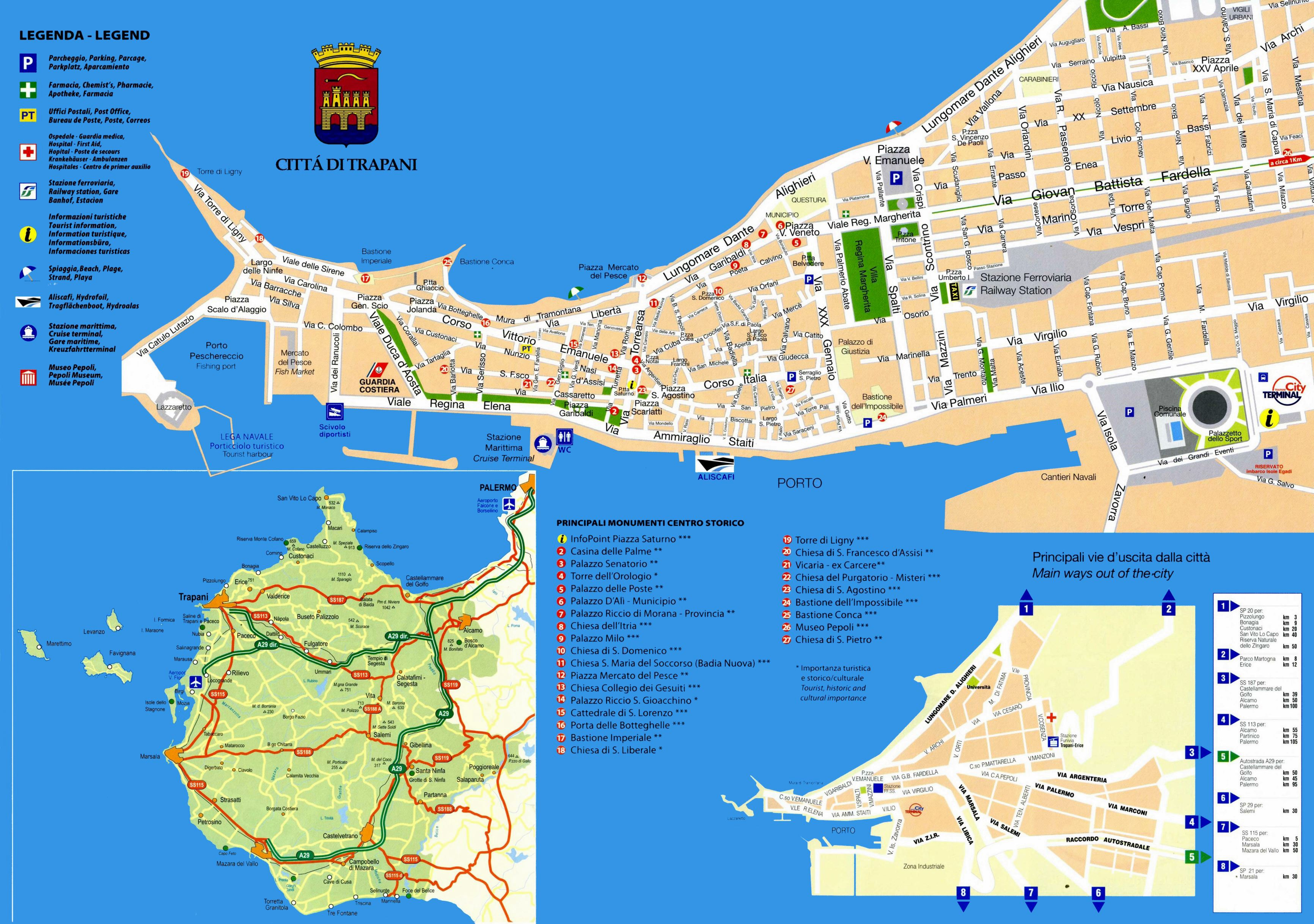 Large Trapani Maps for Free Download and Print HighResolution and