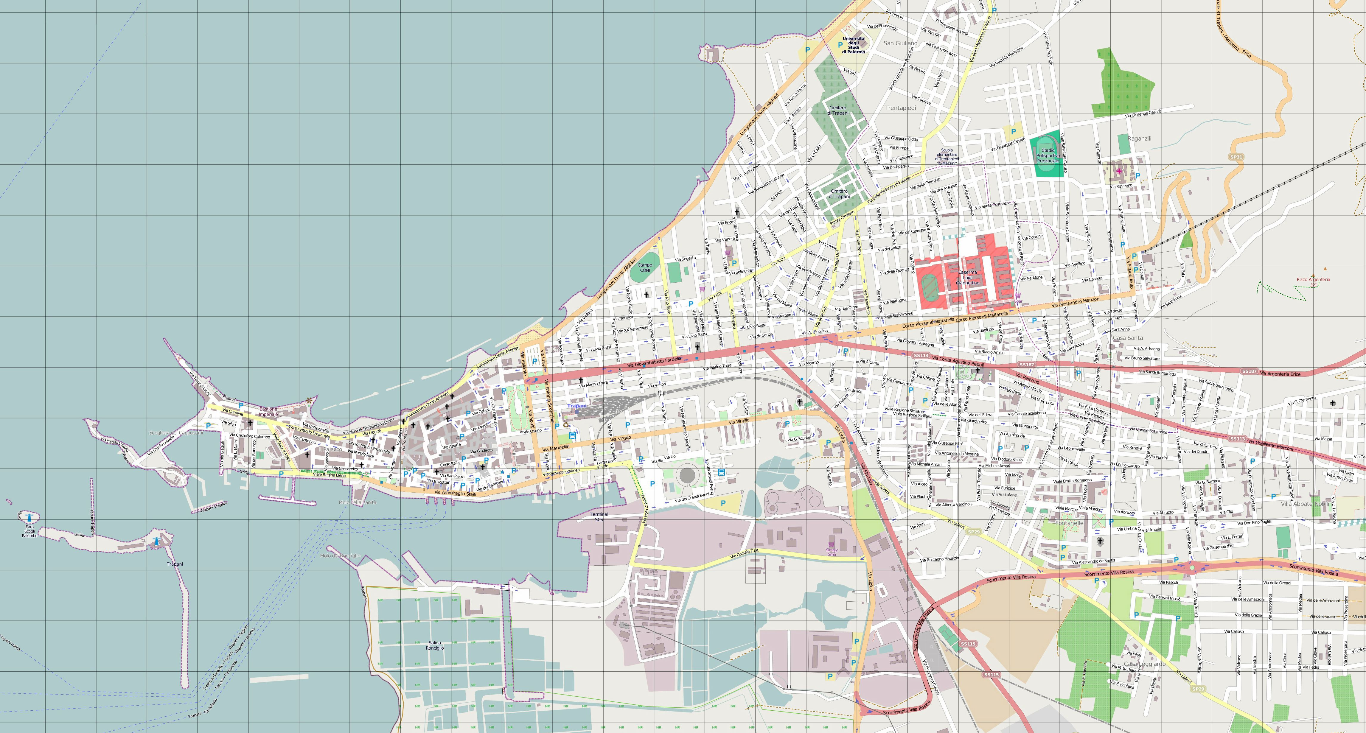 Large Trapani Maps for Free Download and Print | High-Resolution and ...