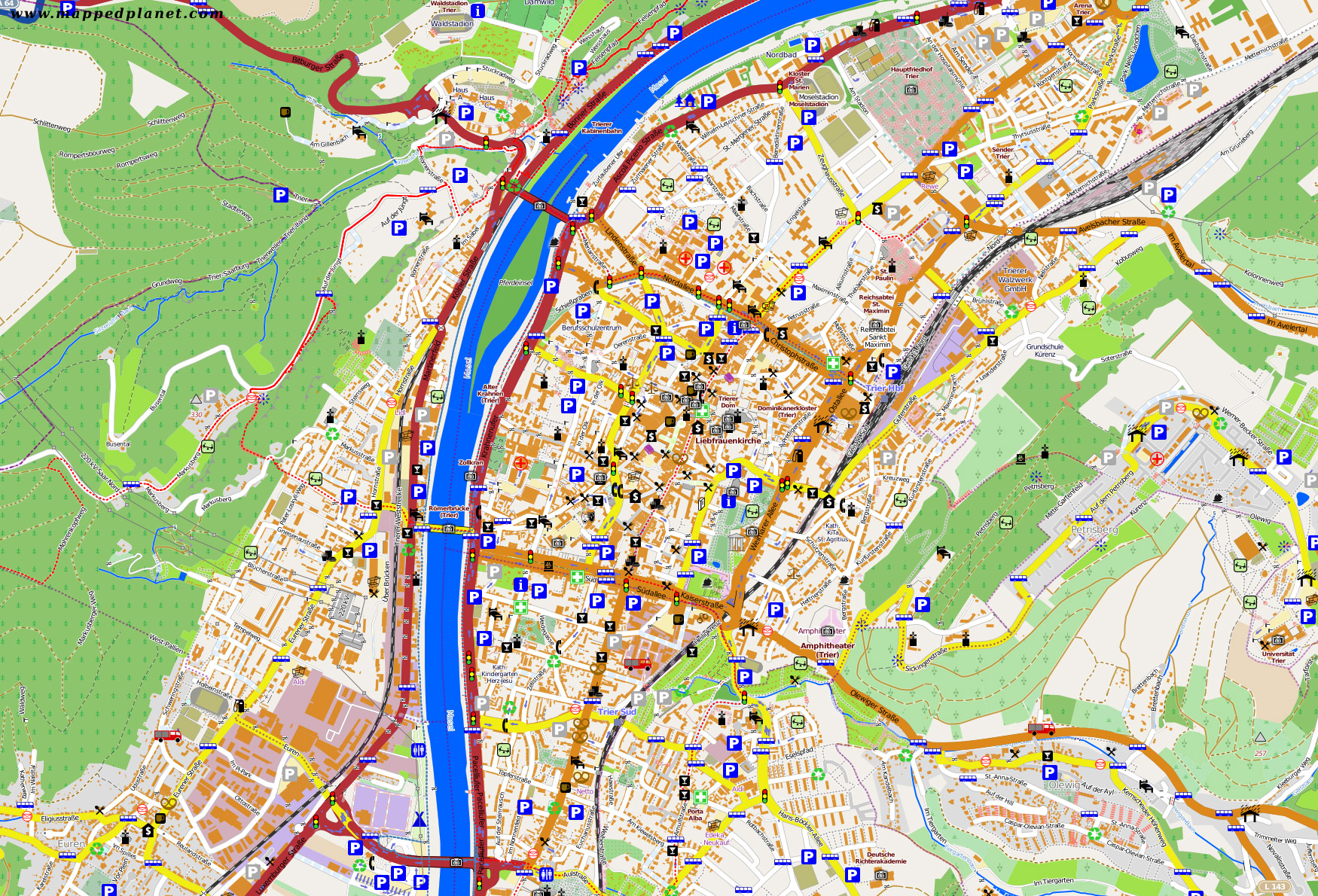 Large Trier Maps for Free Download and Print HighResolution and