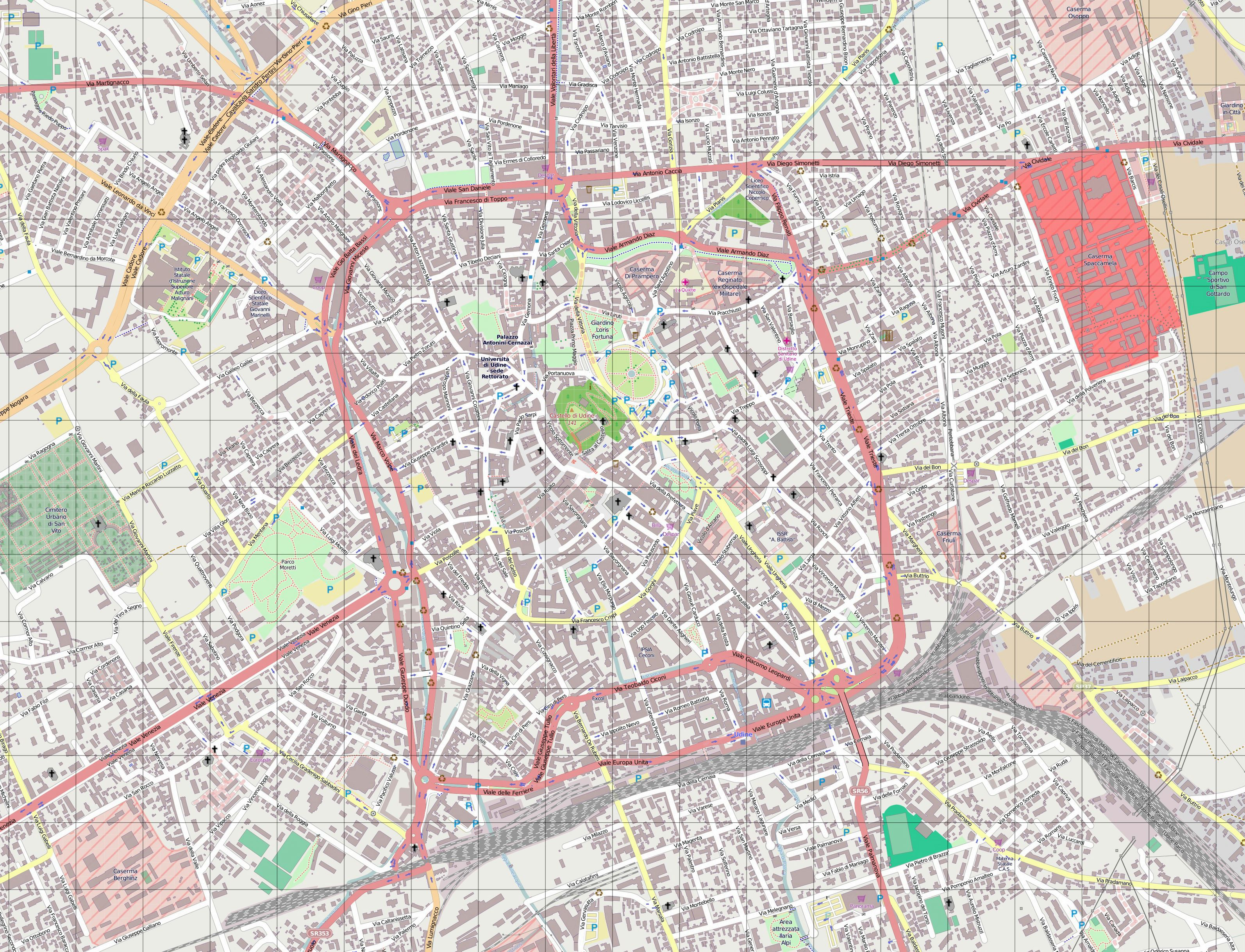 Large Udine Maps for Free Download and Print HighResolution and