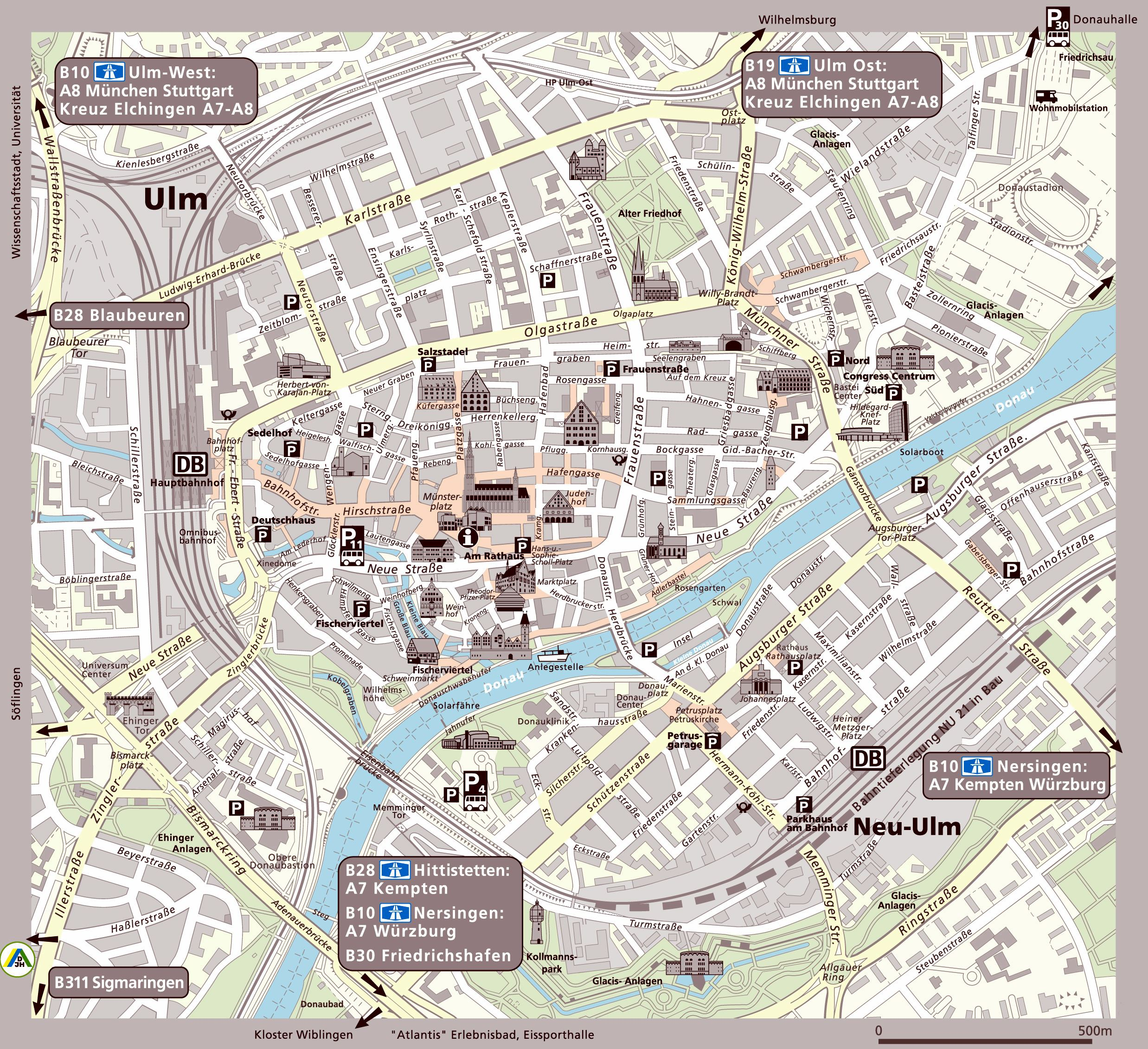 Large Ulm Maps for Free Download and Print HighResolution and