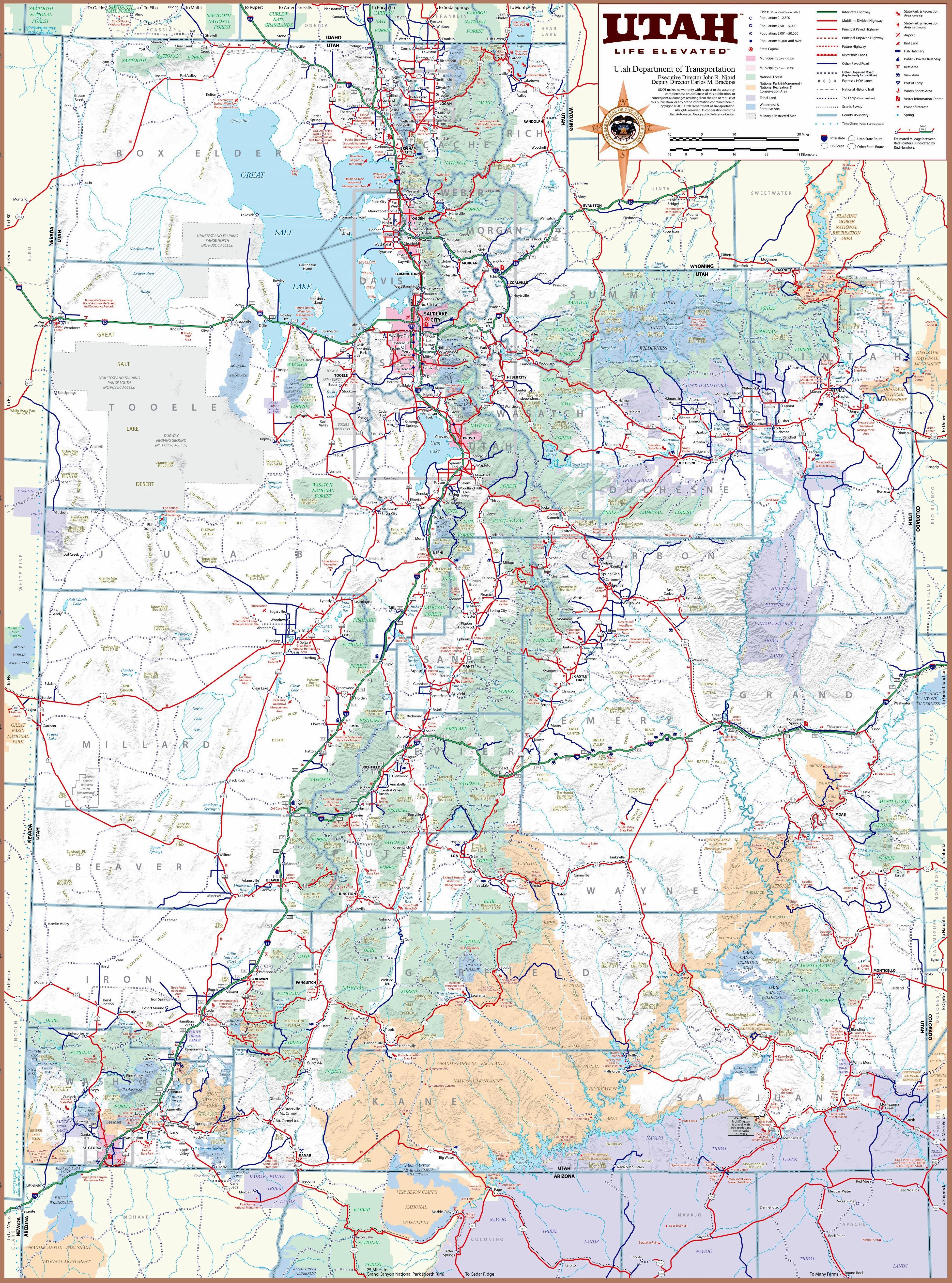 Map Of Utah Large Utah Maps for Free Download and Print | High Resolution and  Map Of Utah