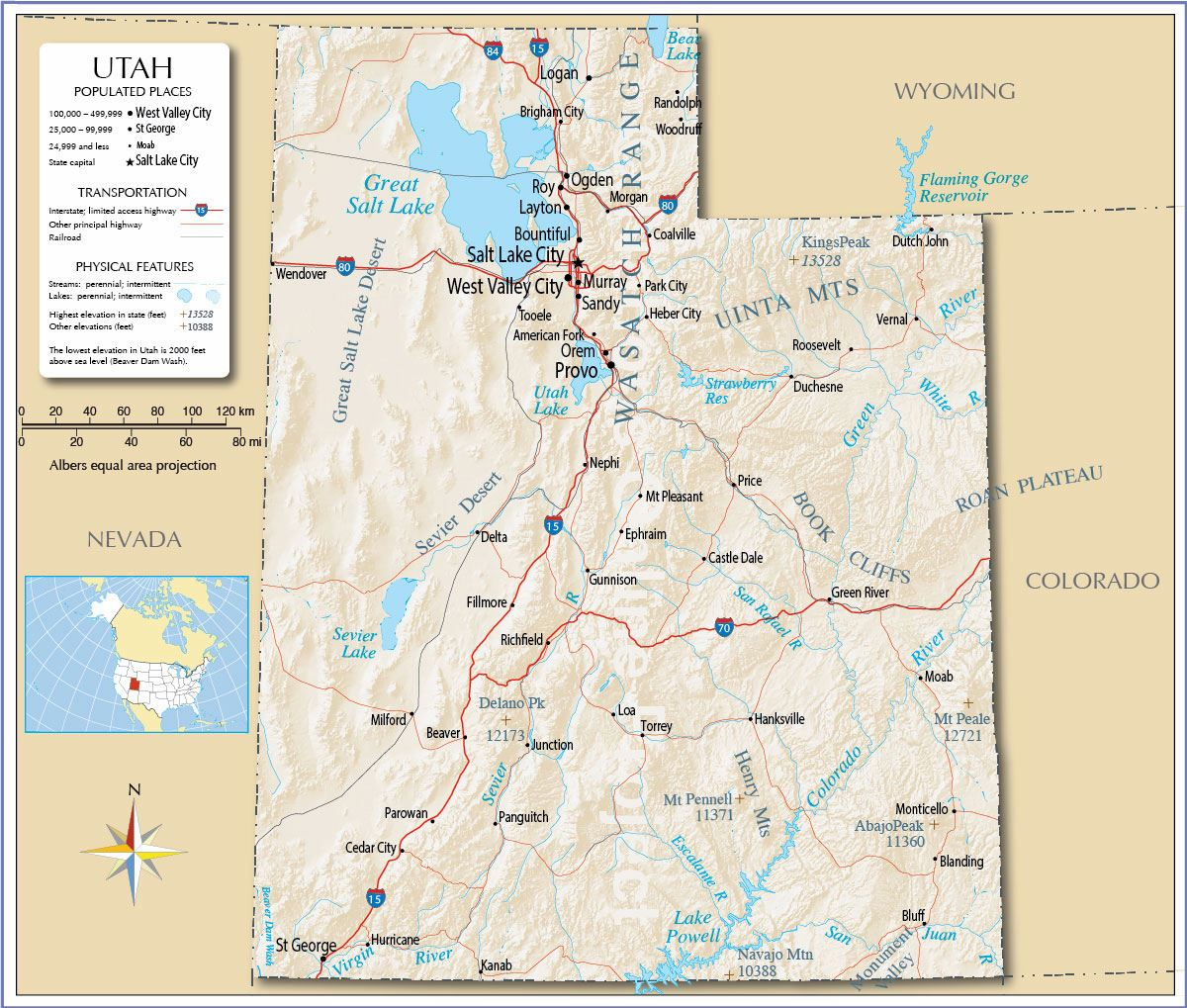 Large Utah Maps For Free Download And Print High Resolution And Detailed Maps