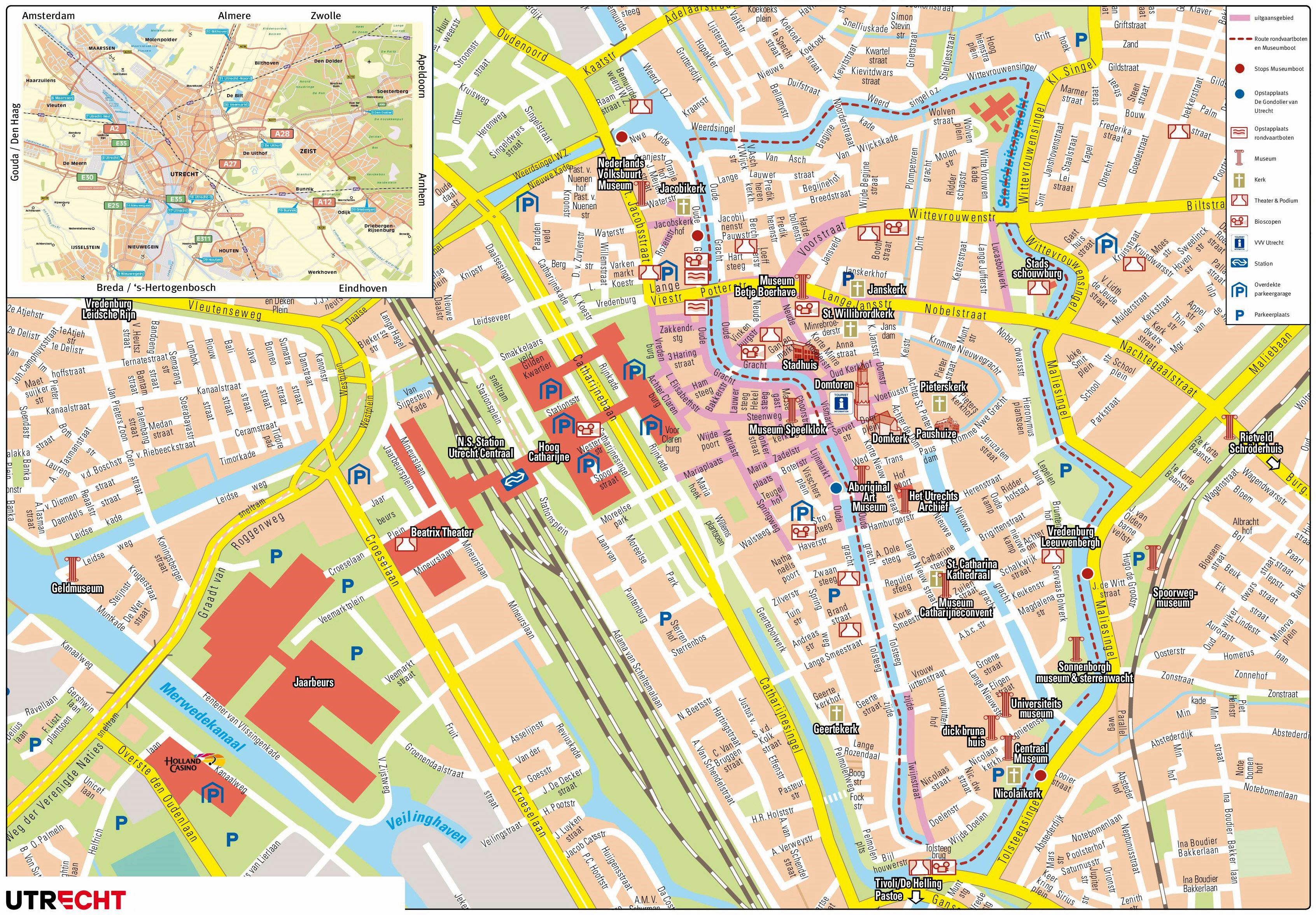 Large Utrecht Maps for Free Download and Print | High-Resolution and ...