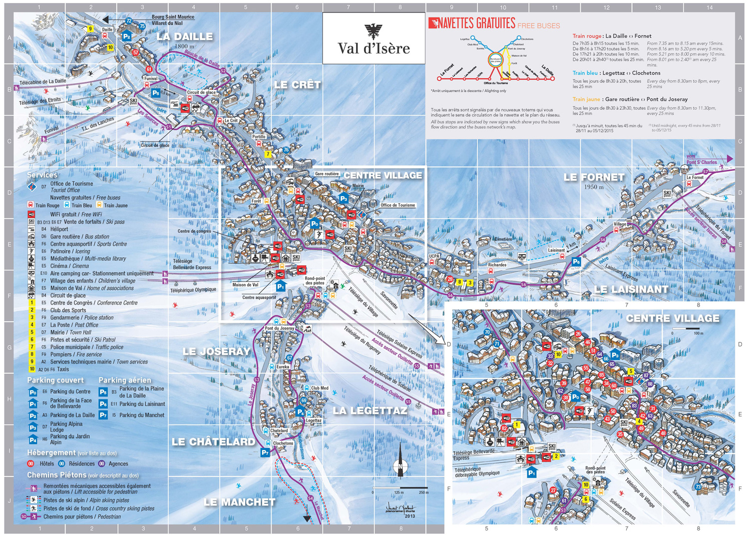 Large Val d Isere Maps for Free Download and Print HighResolution