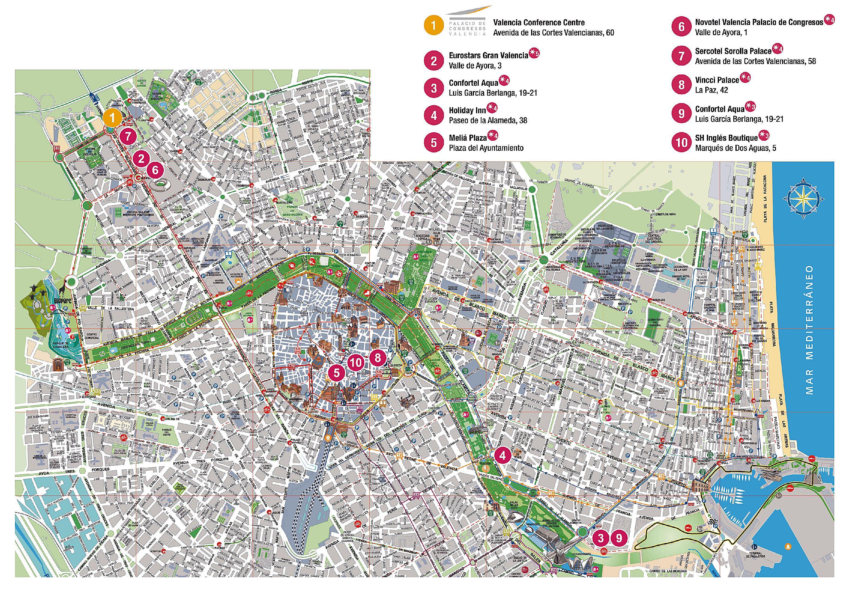valência mapa Large Valencia Maps for Free Download and Print | High Resolution  valência mapa