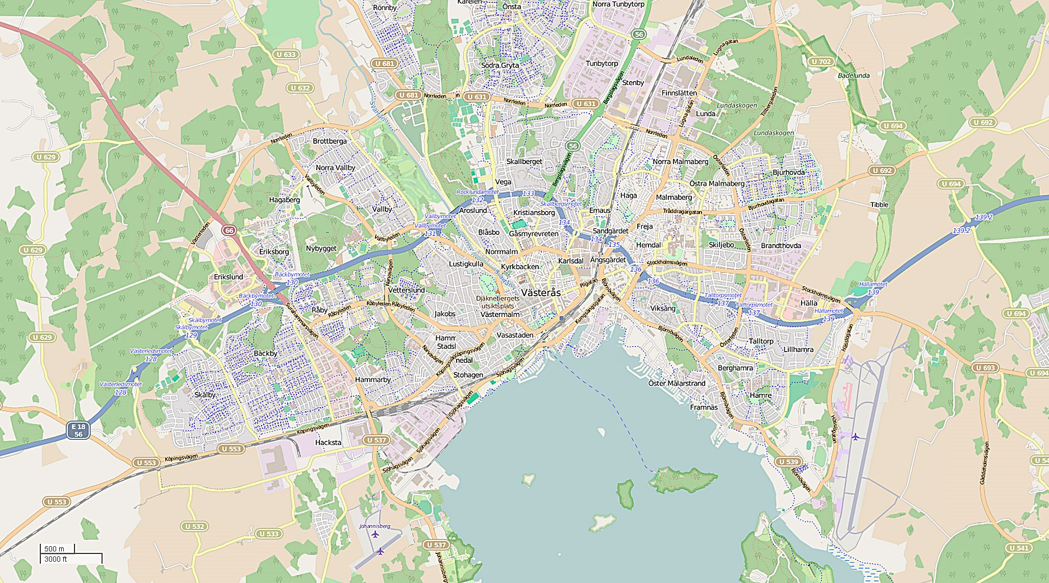 Large Vasteras Maps for Free Download and Print HighResolution