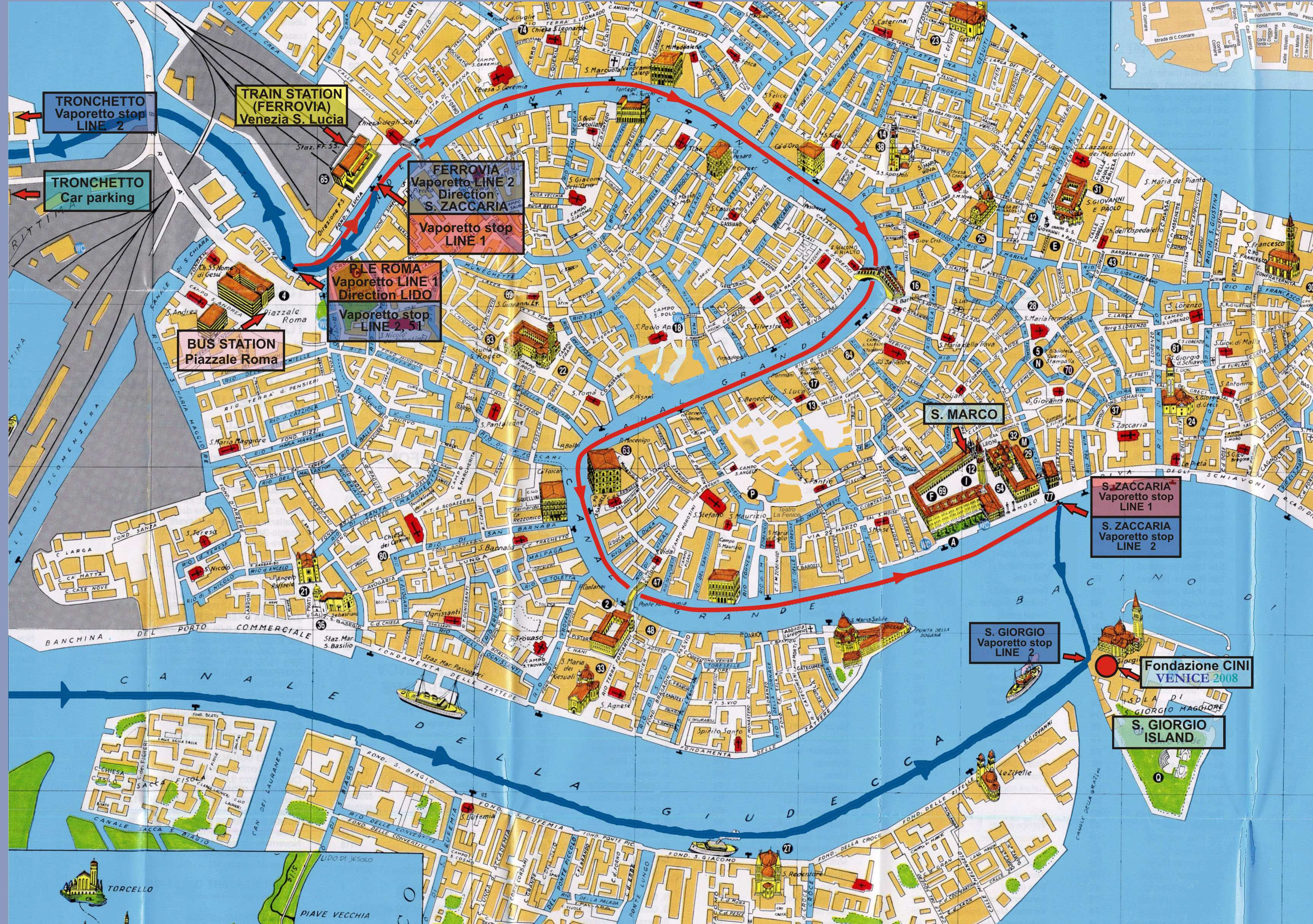 Large Map Of Venice 1