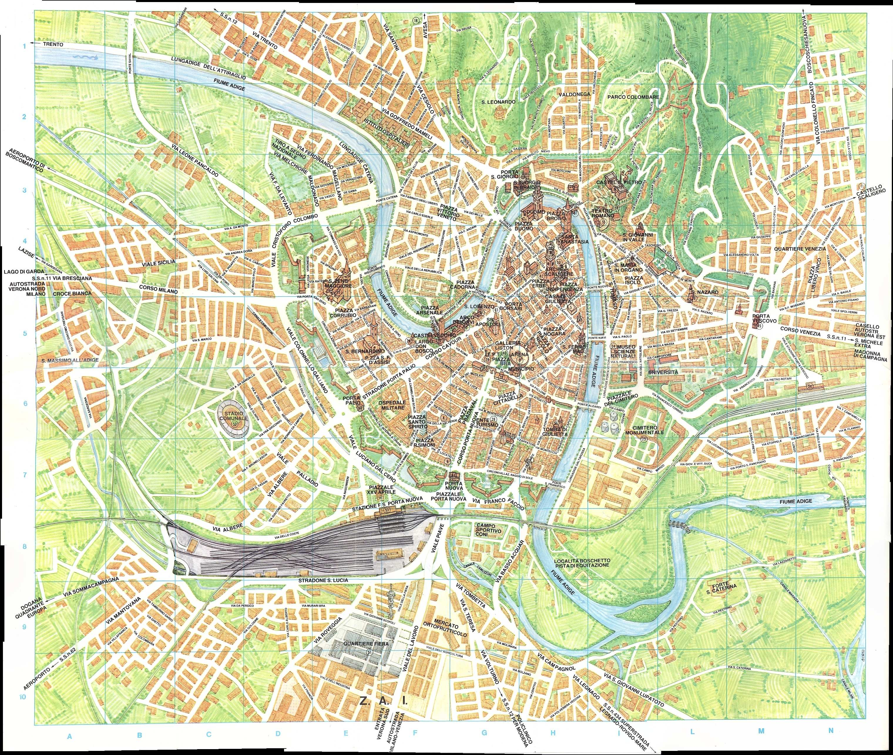 Pdf Map Of Italy.Large Verona Maps For Free Download And Print High Resolution And