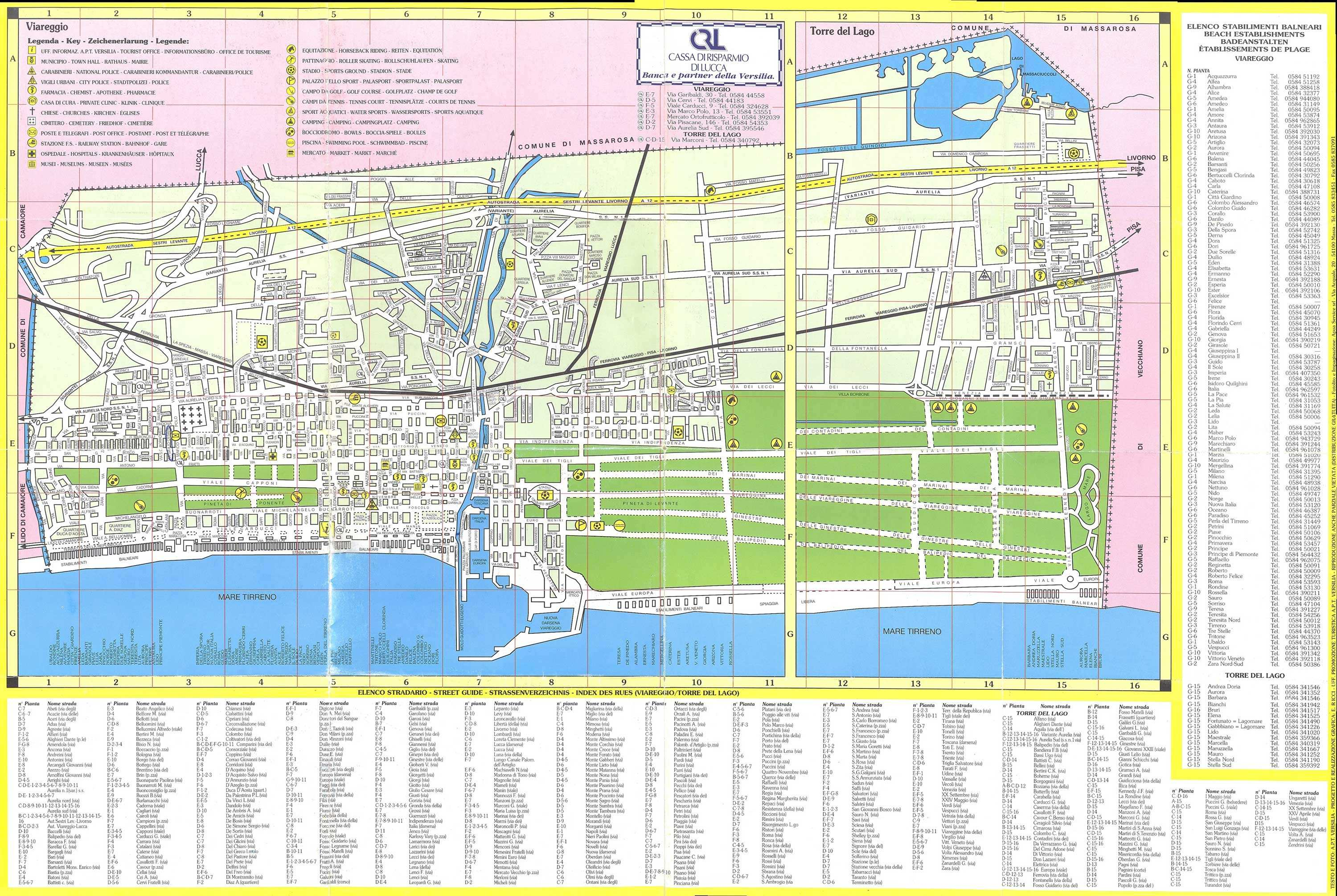 Large Viareggio Maps for Free Download and Print HighResolution