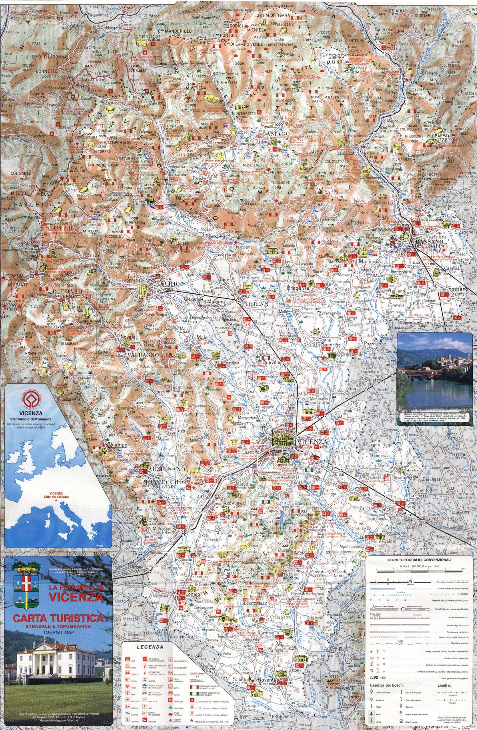 Large Vicenza Maps for Free Download and Print HighResolution and
