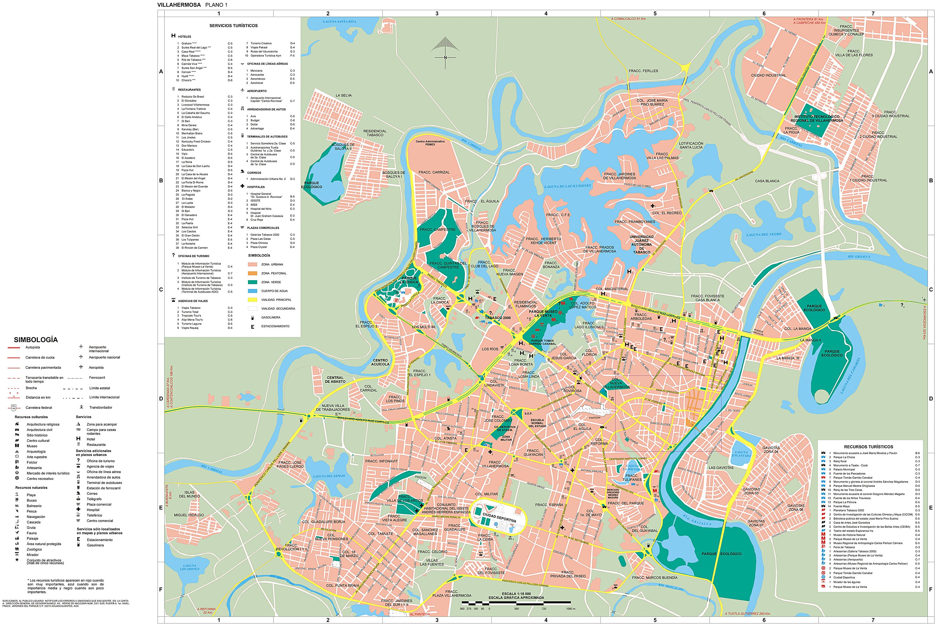 Large Villahermosa Maps for Free Download and Print High