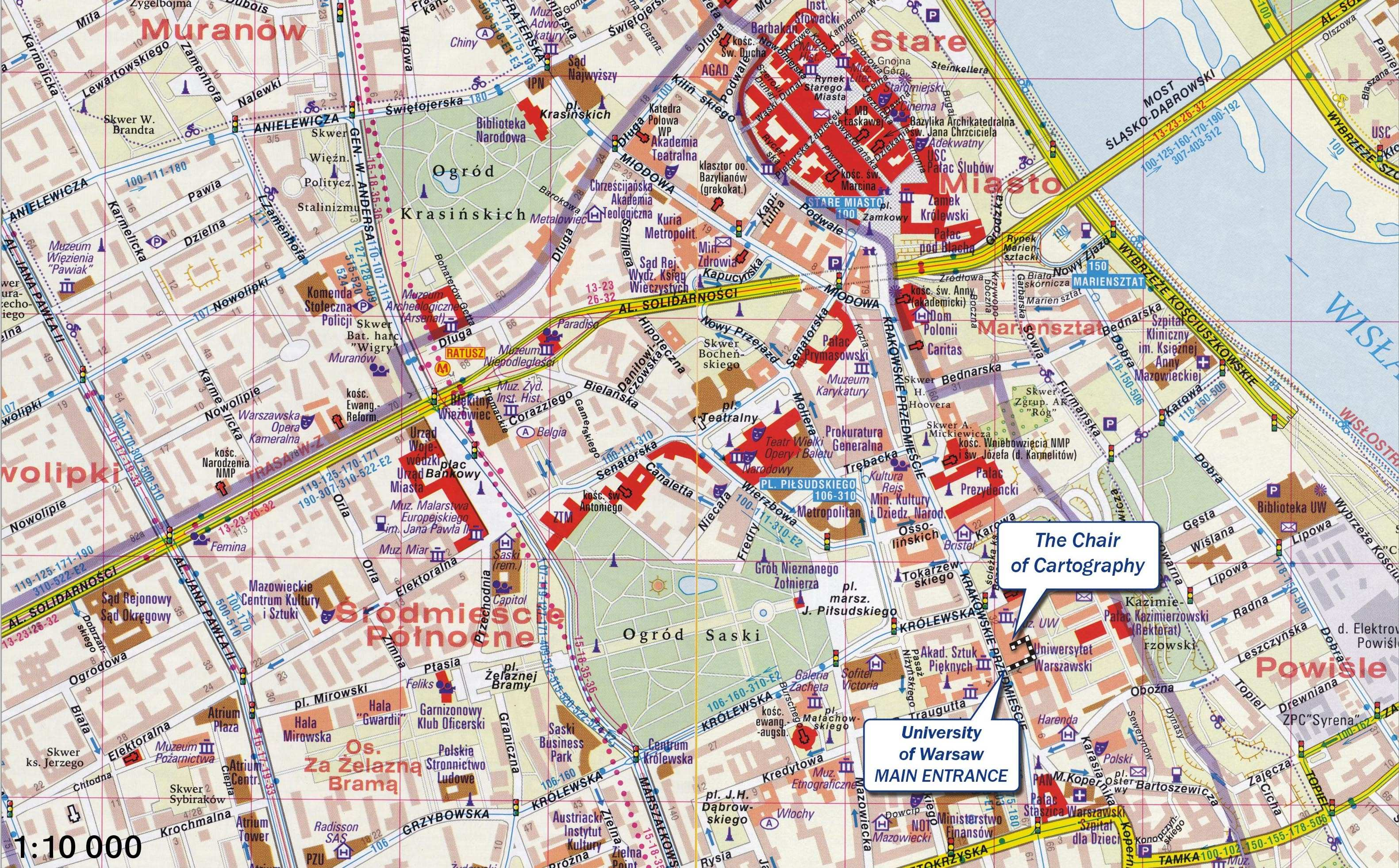 Large Warsaw Maps for Free Download | High-Resolution and Detailed ...