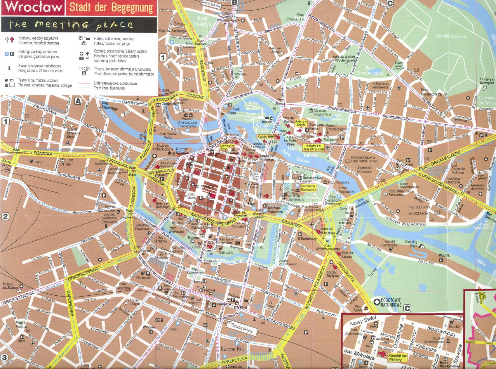 Large Wroclaw Maps for Free Download and Print HighResolution and