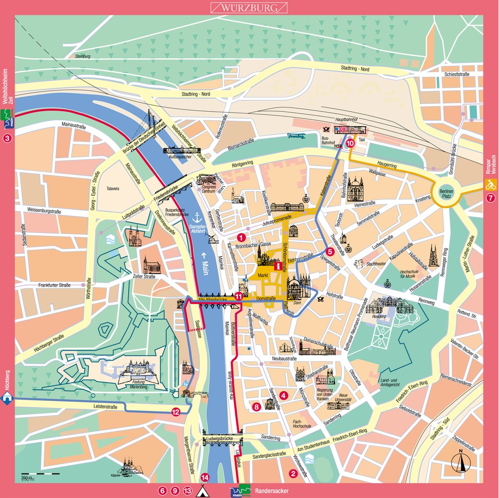 large map of wurzburg 1