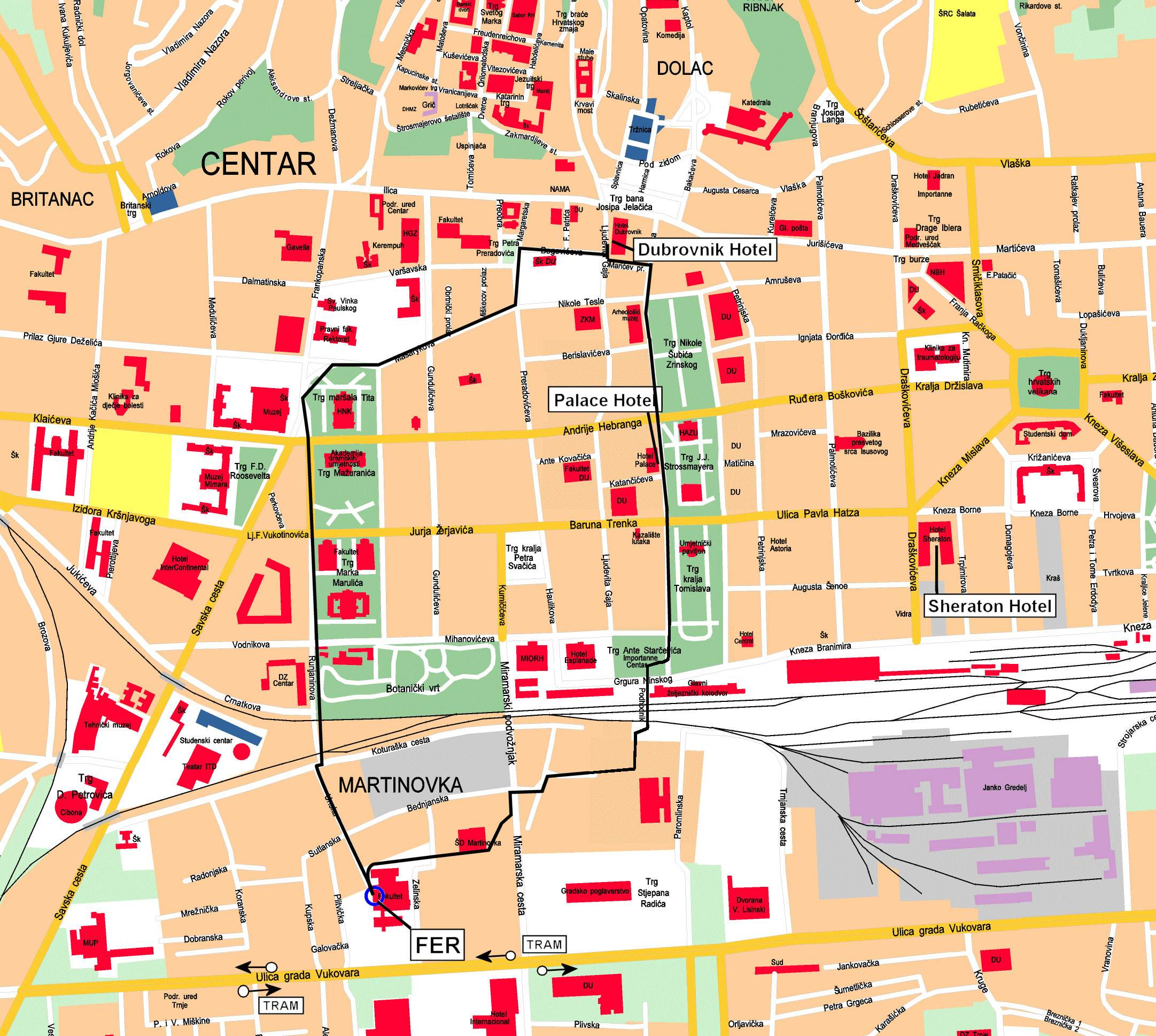 Large Zagreb Maps For Free Download And Print High Resolution And Detailed Maps