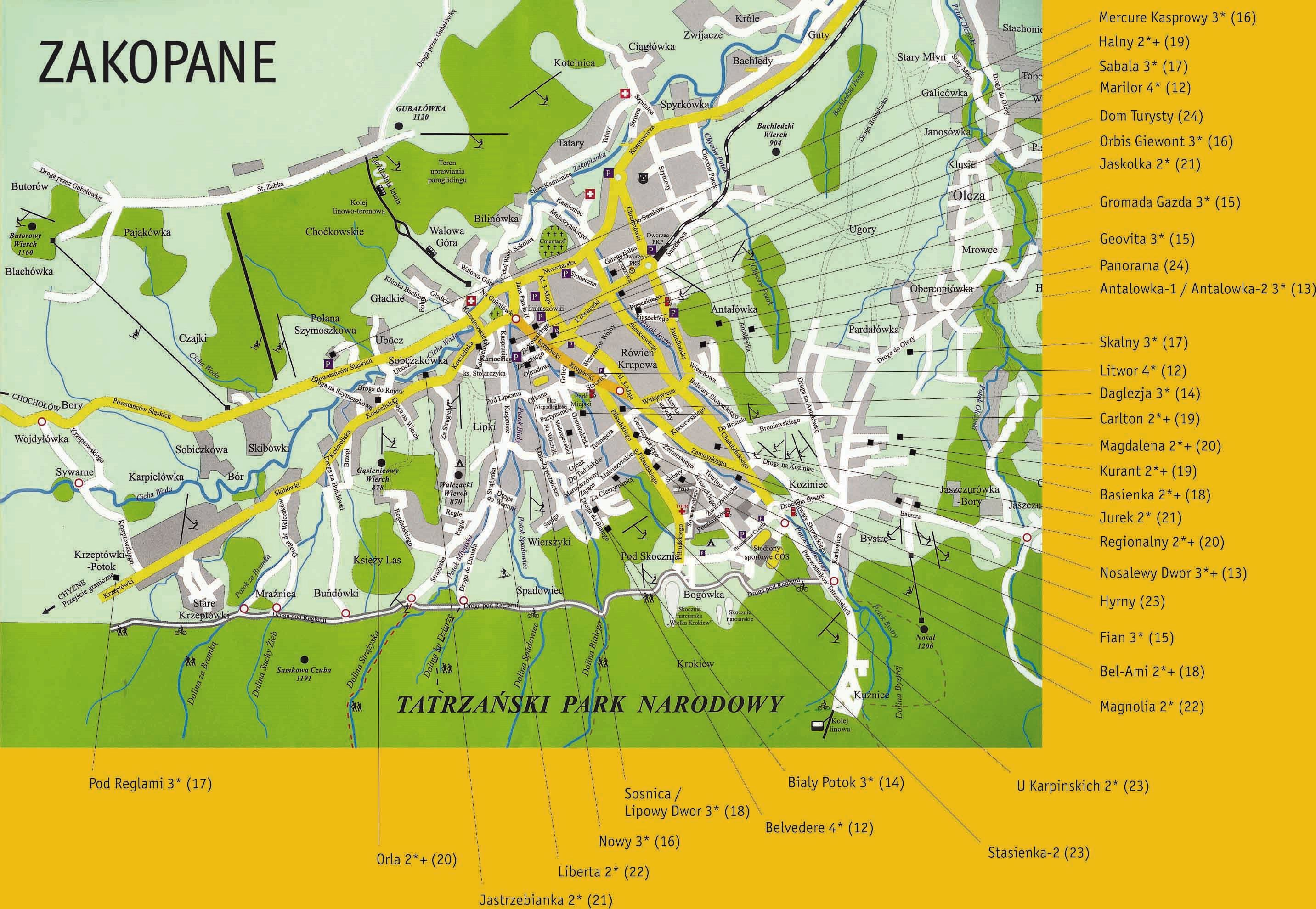 Large Zakopane Maps For Free Download And Print High Resolution